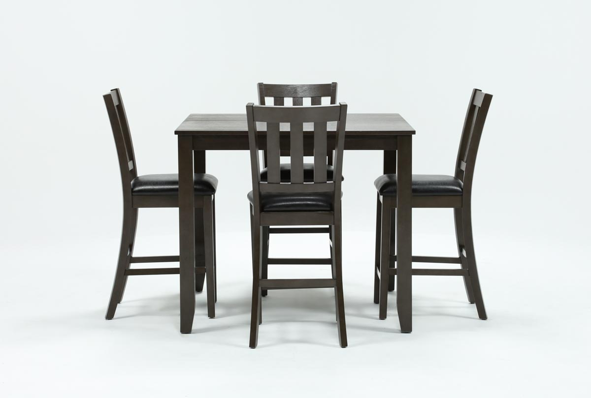 Current Jarrod 5 Piece Dining Sets In Jensen 5 Piece Counter Set (View 19 of 25)