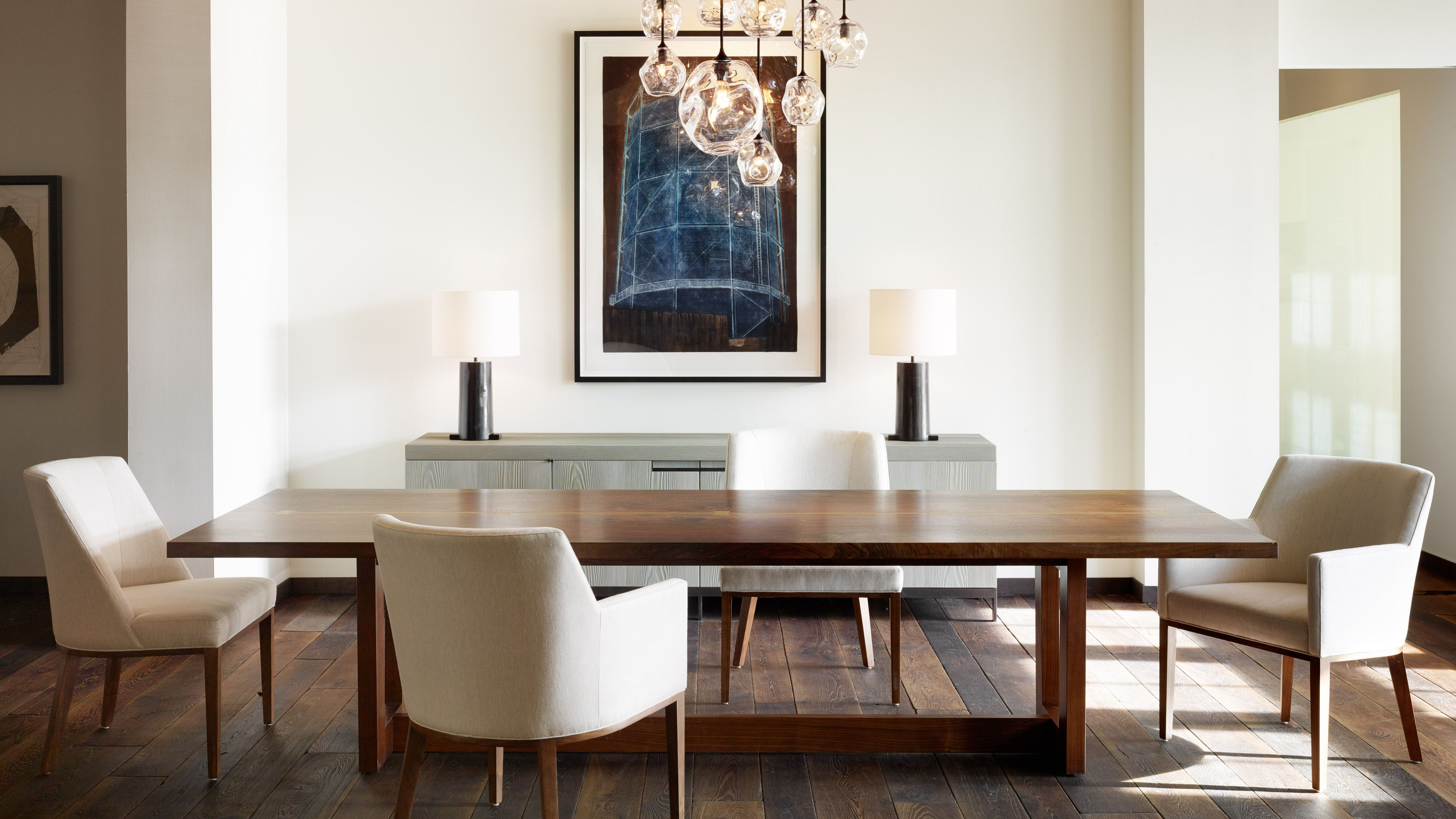 Current Minimalist Dining Rooms That Are Far From Boring Inside Sundberg 5 Piece Solid Wood Dining Sets (View 6 of 25)