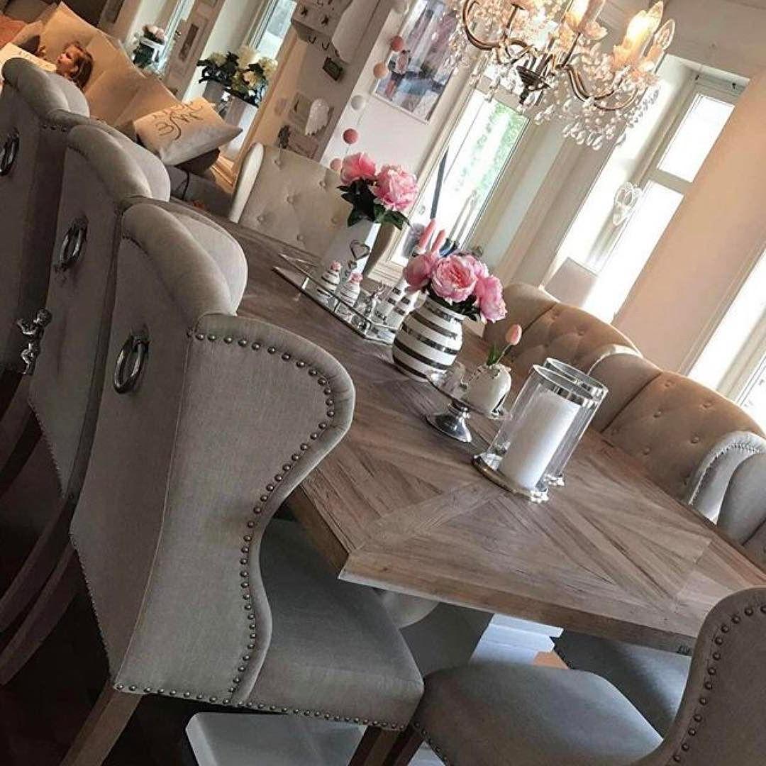 Current Se Så Fint Det Ble Hos @villa Riviera Lene Med London 3 Spisebord Pertaining To Lonon 3 Piece Dining Sets (View 14 of 25)