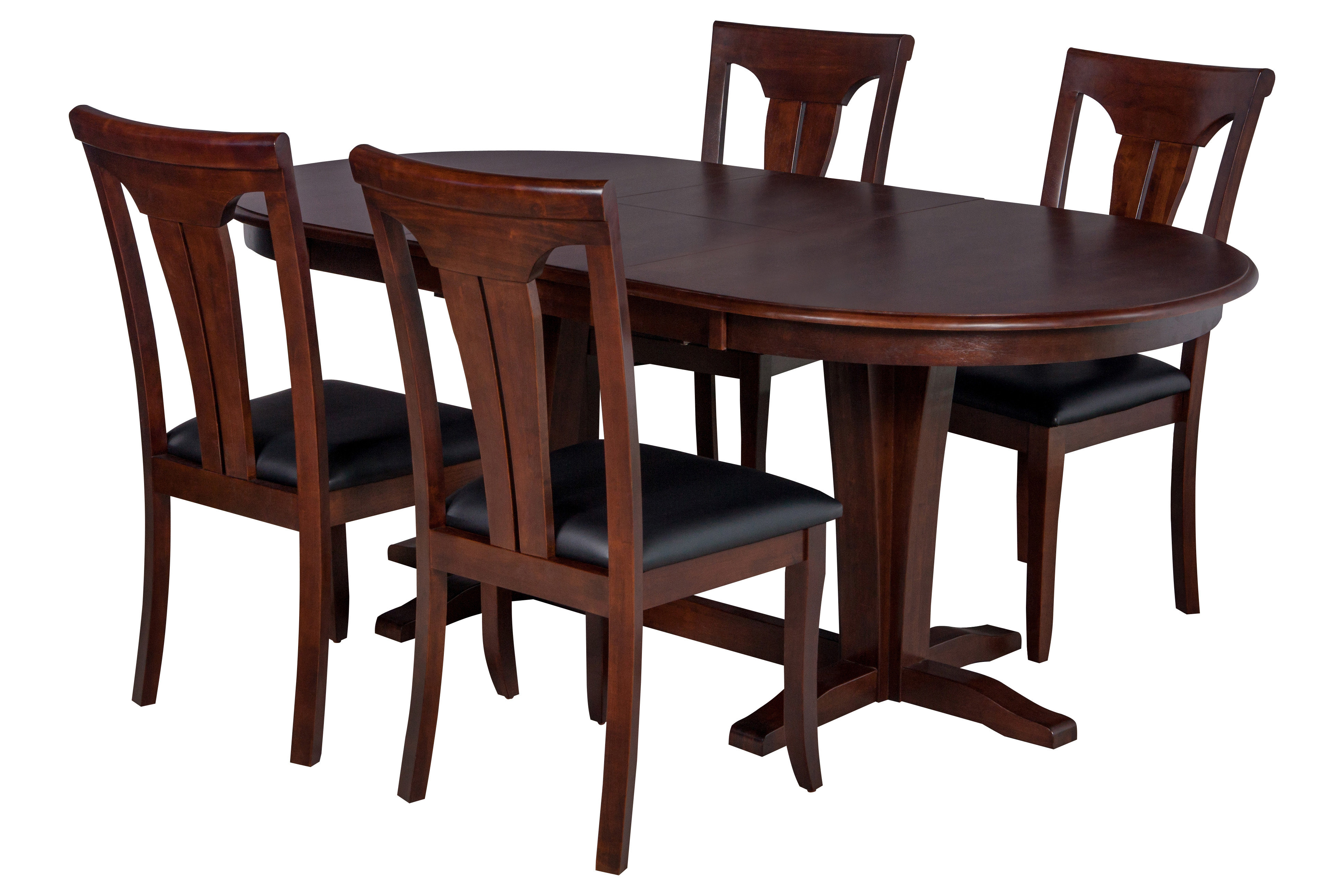 Darby Home Co Bateson 5 Piece Curved Back Chair Dining Set (View 16 of 25)