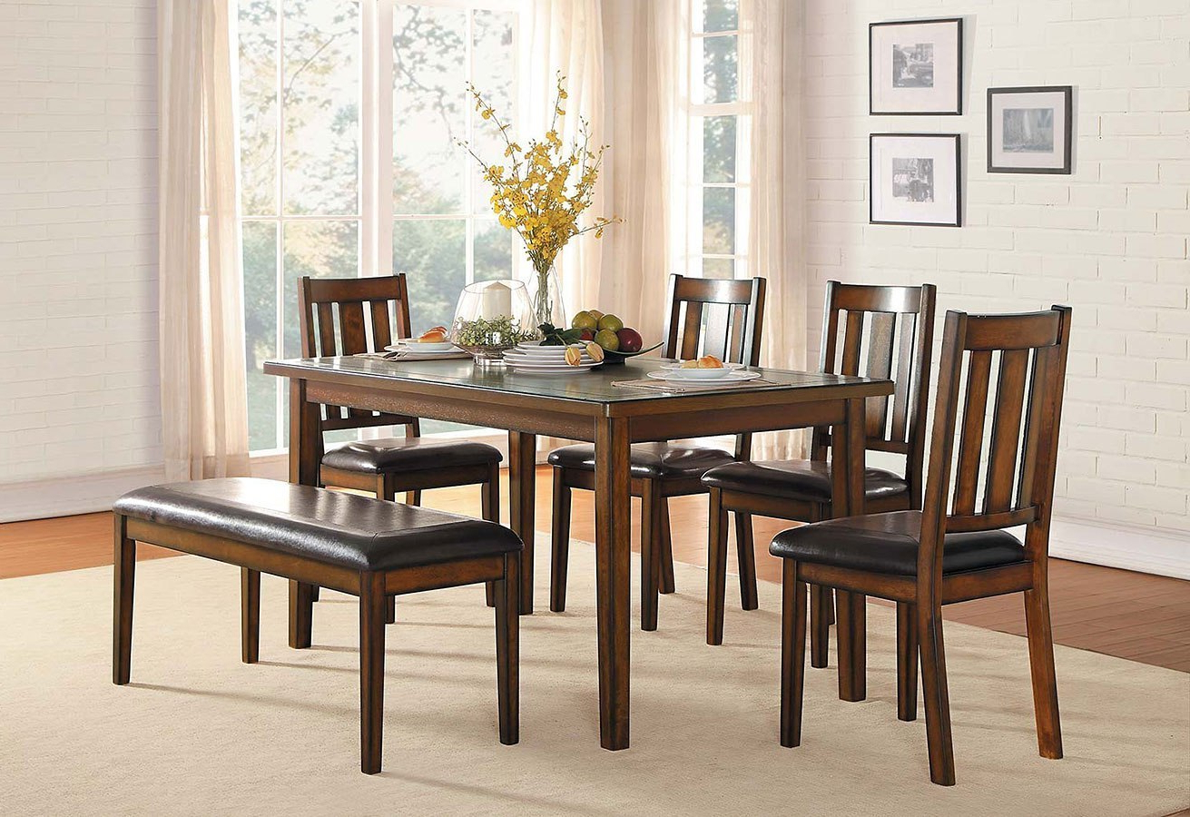 Delmar 5 Piece Dining Sets Intended For Most Recent Delmar 6 Piece Dining Room Sethomelegance (Gallery 12 of 25)