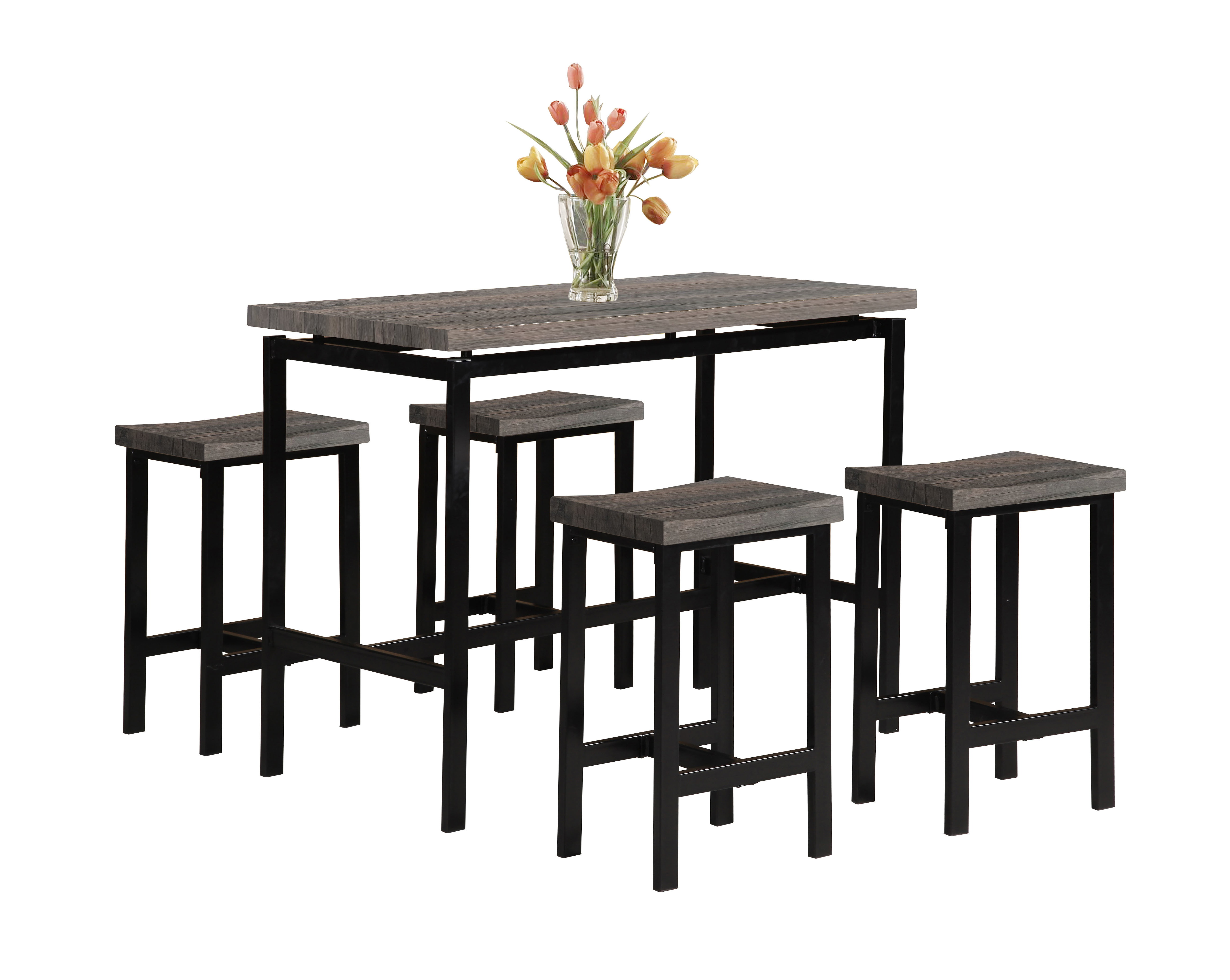 Denzel 5 Piece Counter Height Breakfast Nook Dining Sets Intended For Current Wrought Studio Denzel 5 Piece Counter Height Breakfast Nook Dining (Gallery 1 of 25)