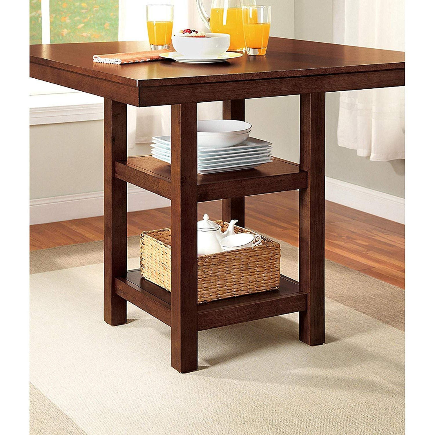 Denzel 5 Piece Counter Height Breakfast Nook Dining Sets Pertaining To Preferred Amazon – 5 Piece Dalton Park Counter Height Dining Set, Mocha (Gallery 21 of 25)