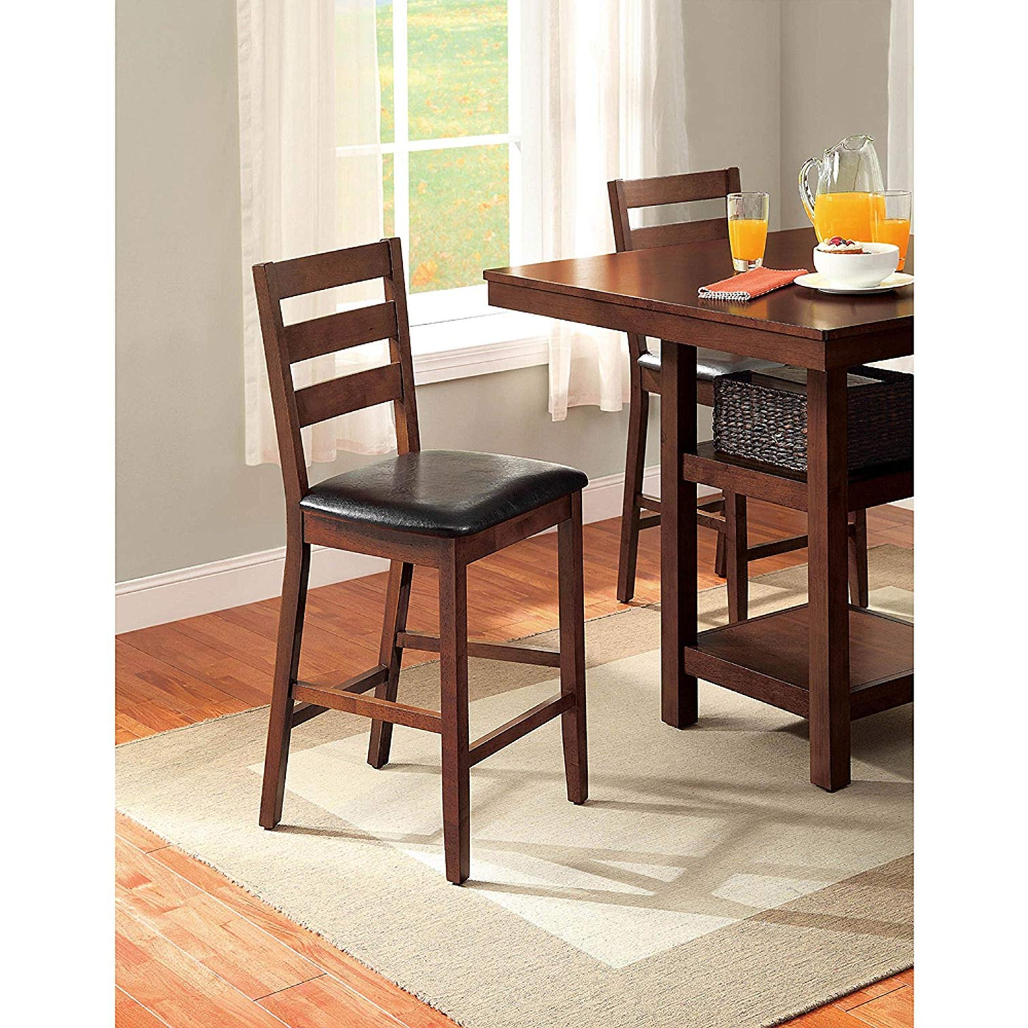 Denzel 5 Piece Counter Height Breakfast Nook Dining Sets with Most Up-to-Date Amazon - 5-Piece Dalton Park Counter Height Dining Set, Mocha