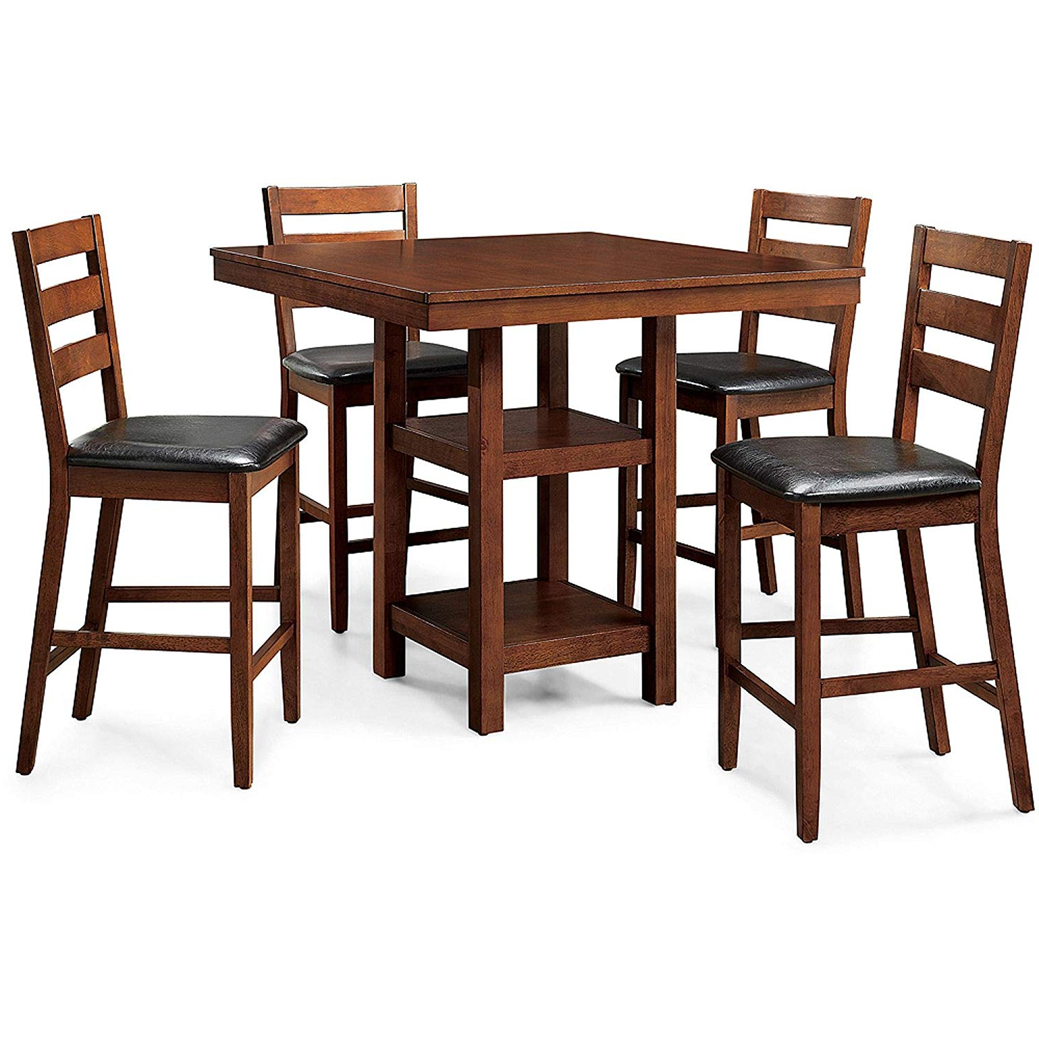 Denzel 5 Piece Counter Height Breakfast Nook Dining Sets With Regard To Fashionable Amazon – 5 Piece Dalton Park Counter Height Dining Set, Mocha (Gallery 6 of 25)