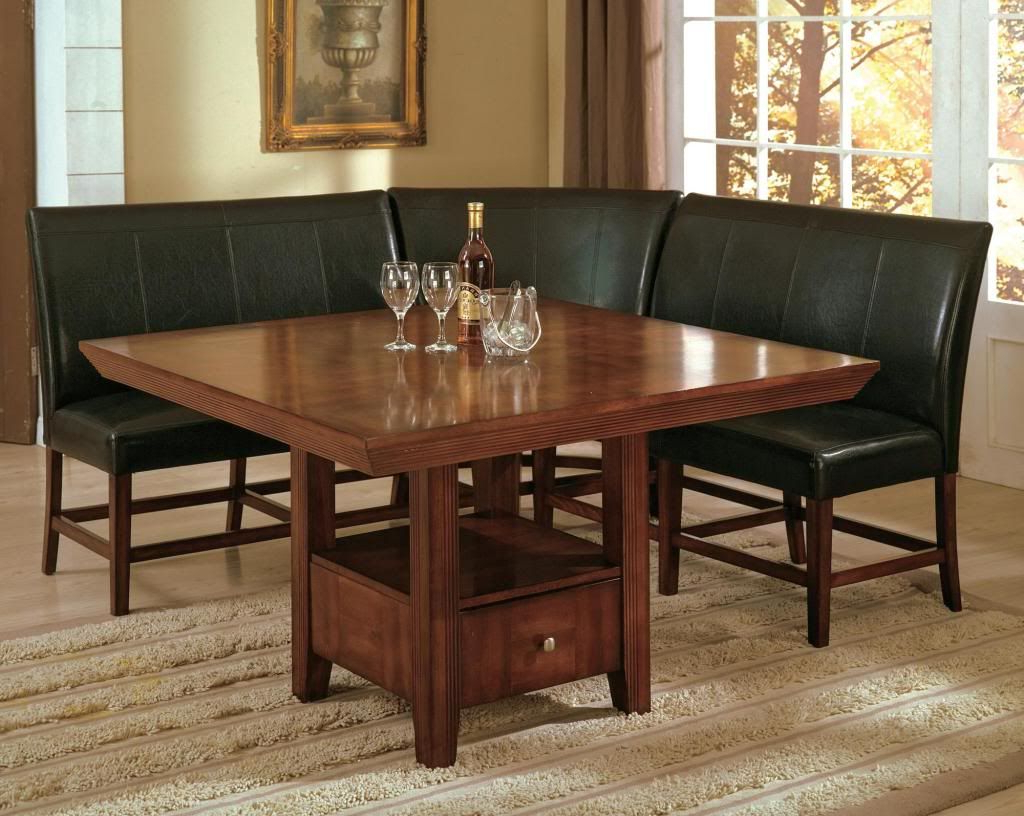 Details About Dining Set Breakfast Nook Bench Table Kitchen Dinette With Best And Newest 3 Piece Breakfast Nook Dinning Set (Gallery 19 of 25)
