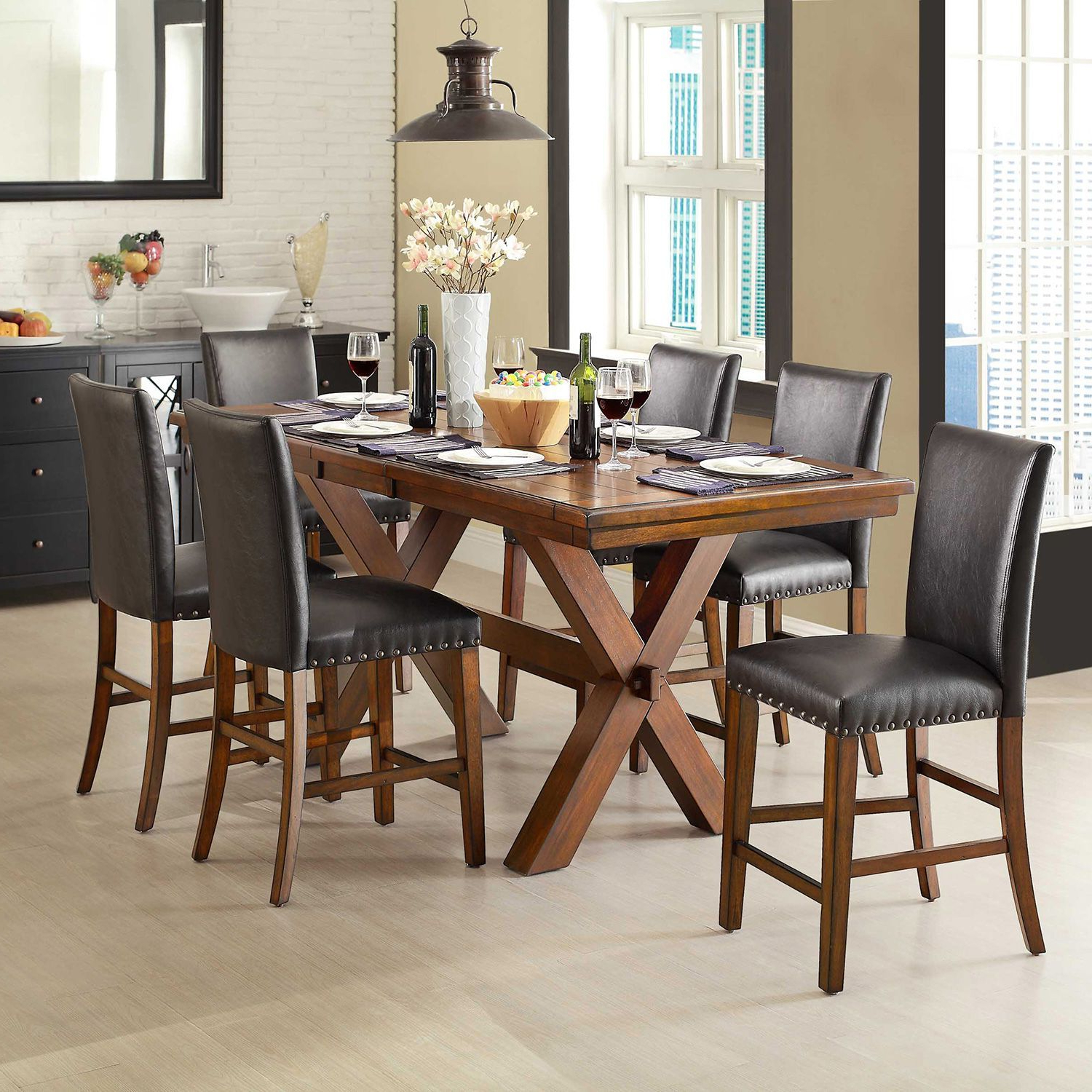 Dining Intended For Winsted 4 Piece Counter Height Dining Sets (View 6 of 25)