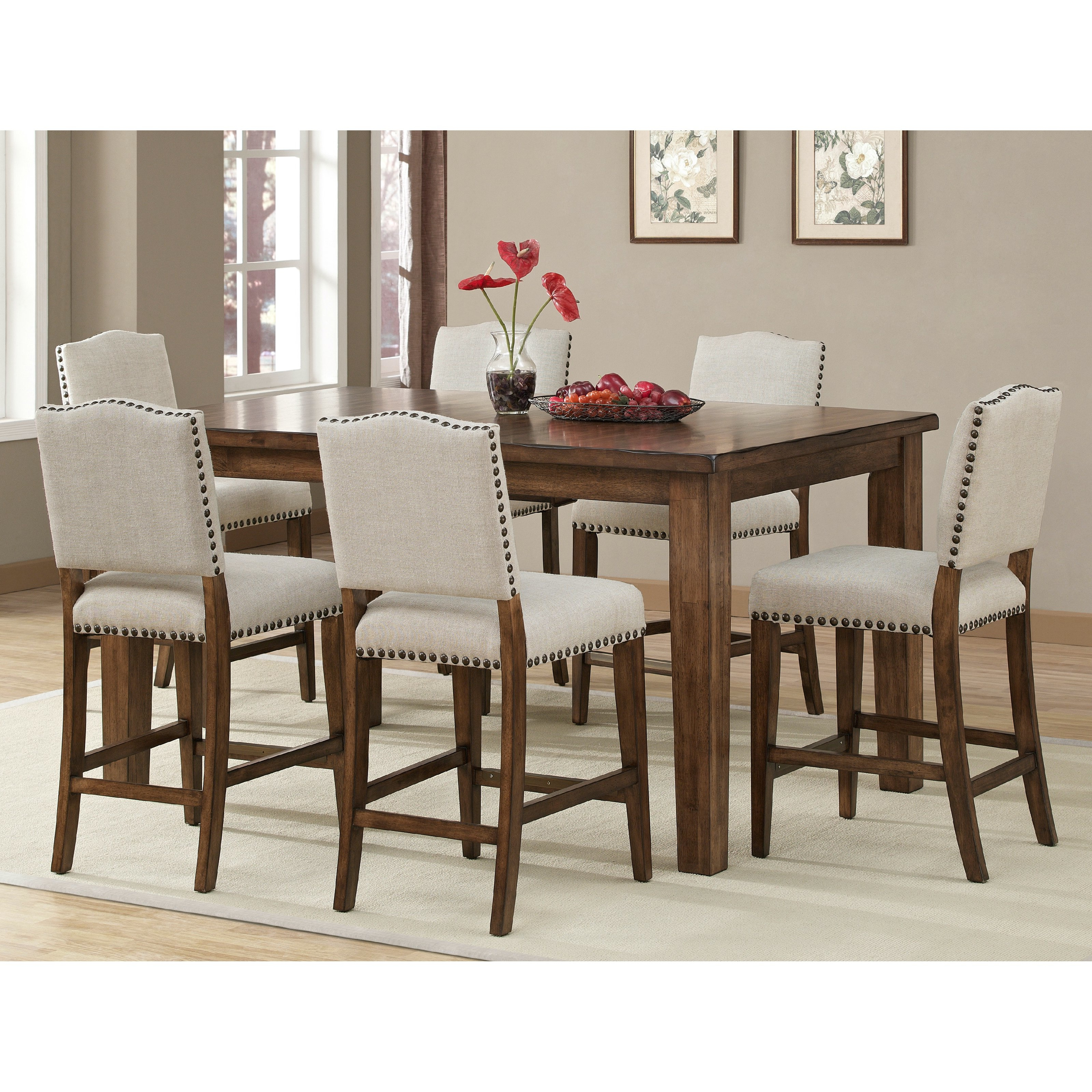 Dining Room: Cozy Counter Height Dinette Sets For Your Dining Pertaining To Well Known Rossi 5 Piece Dining Sets (View 5 of 25)