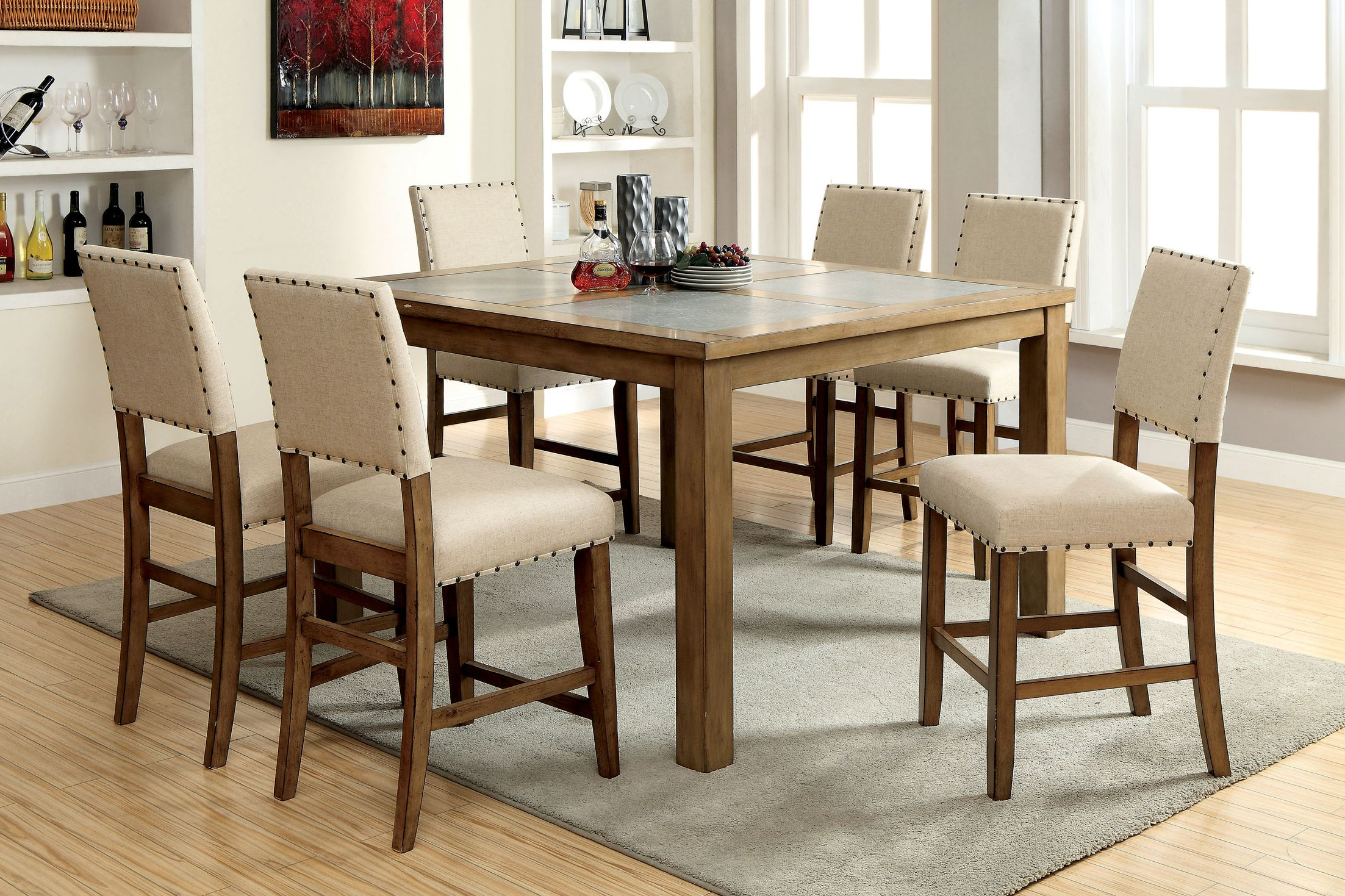 Dining Tables Crafton Counter Height Pub Dining Table March 2019 Throughout Well Known Castellanos Modern 5 Piece Counter Height Dining Sets (Gallery 12 of 25)