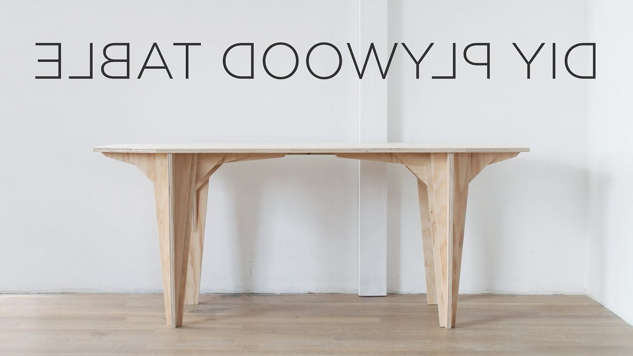 Diy Plywood Table (View 13 of 25)