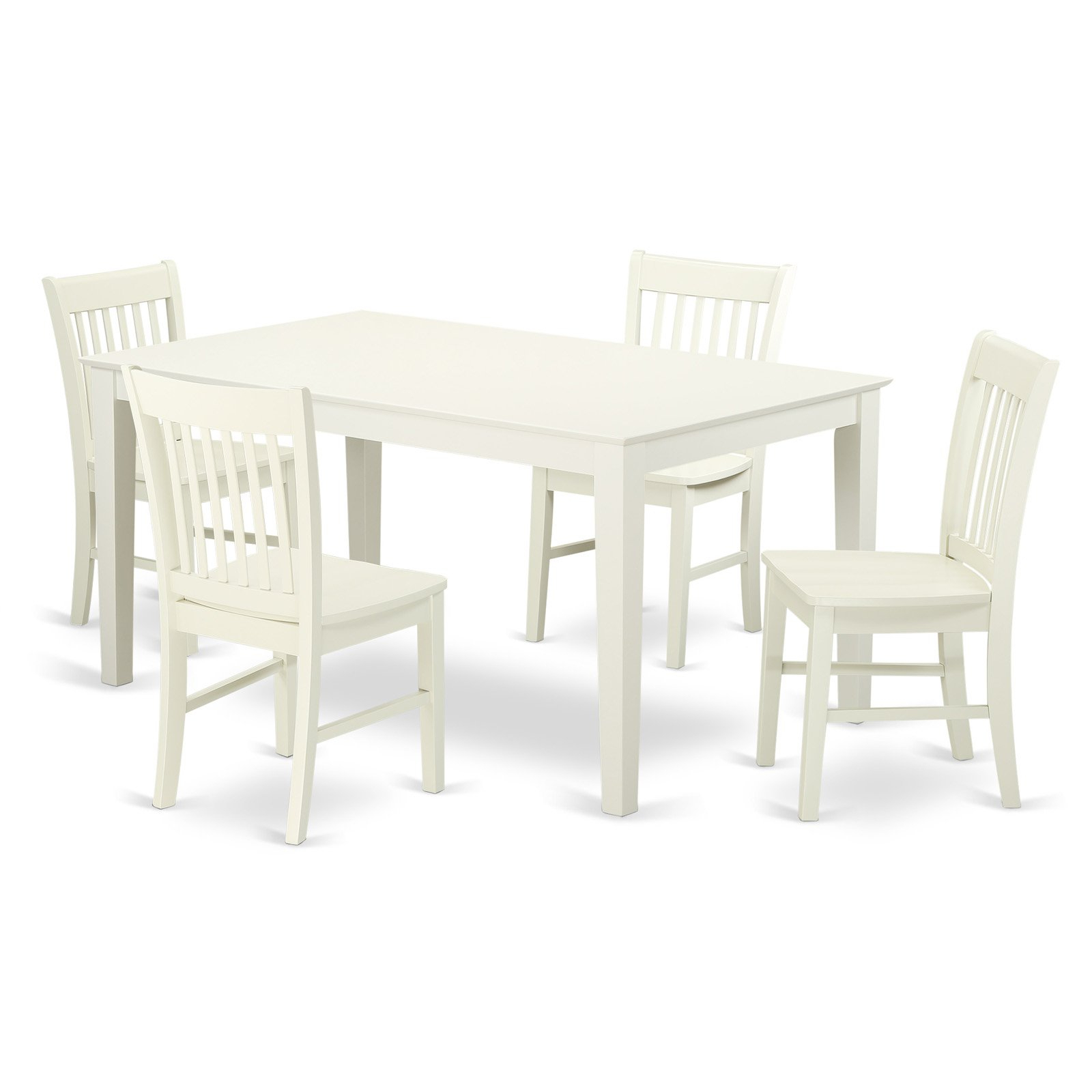East West Furniture Capri Cano5 Five Piece Dining Table Set In 2019 With Regard To Best And Newest Smyrna 3 Piece Dining Sets (Gallery 20 of 25)