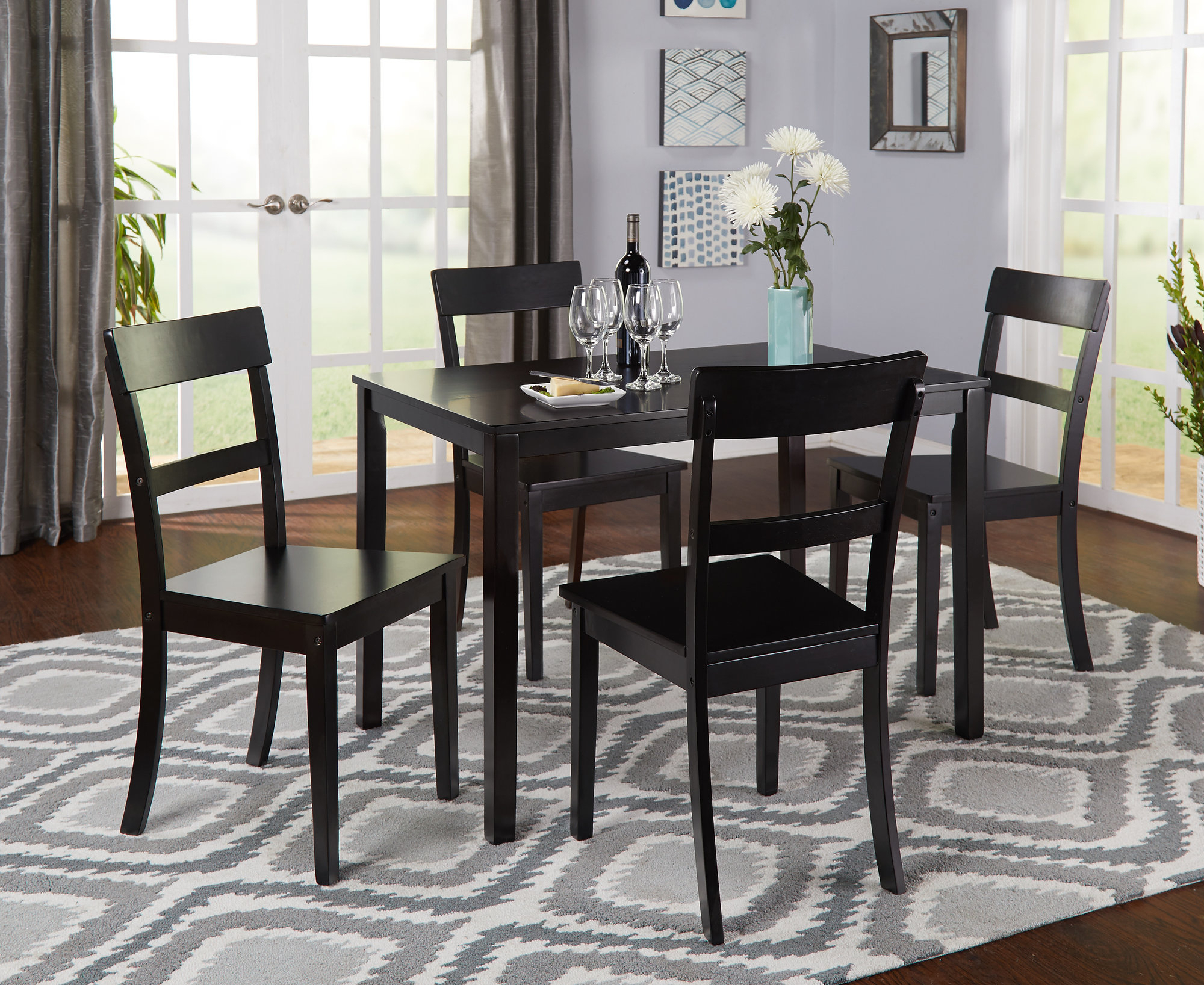 Ebay inside Most Current Miskell 5 Piece Dining Sets