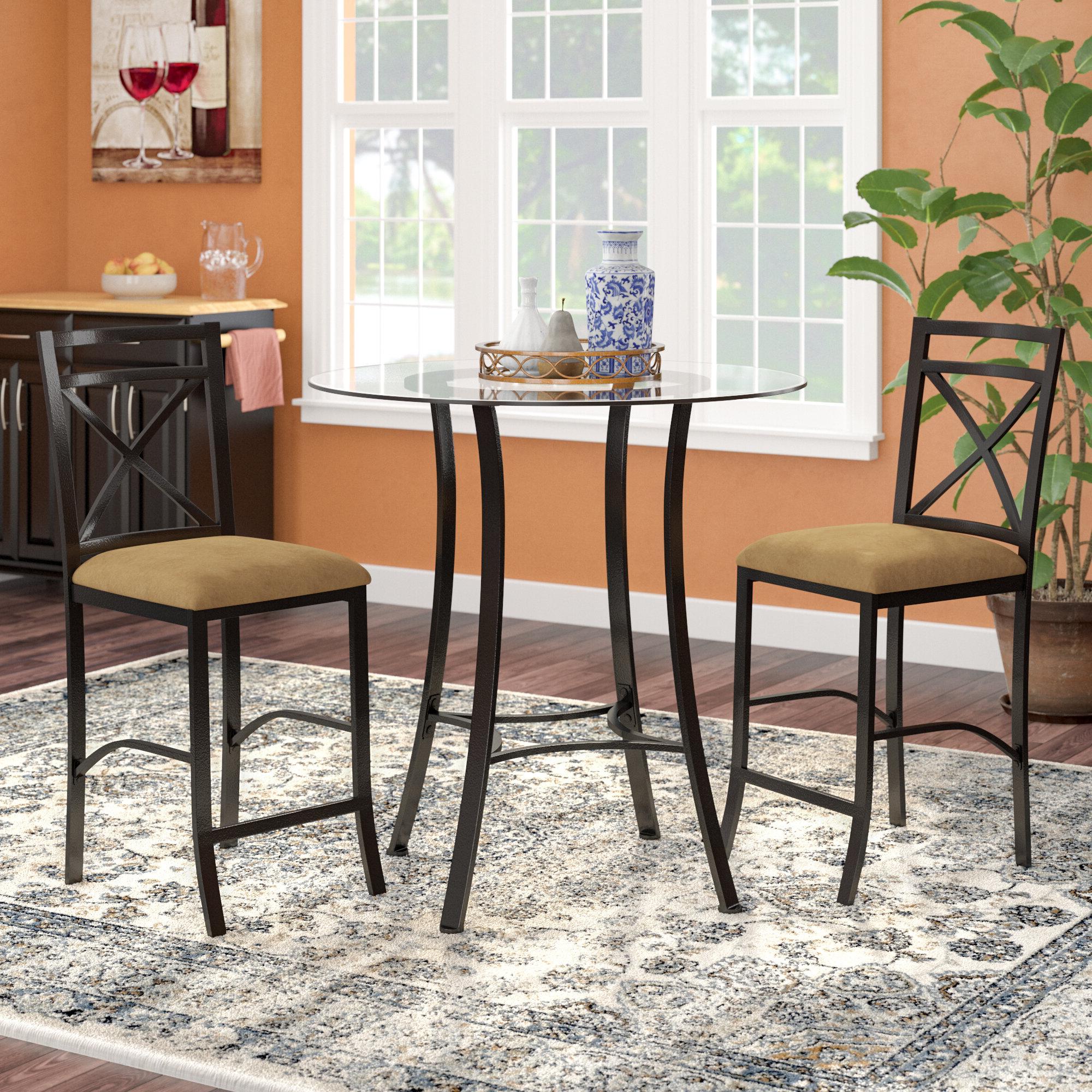 Ebay regarding Trendy Mitzel 3 Piece Dining Sets