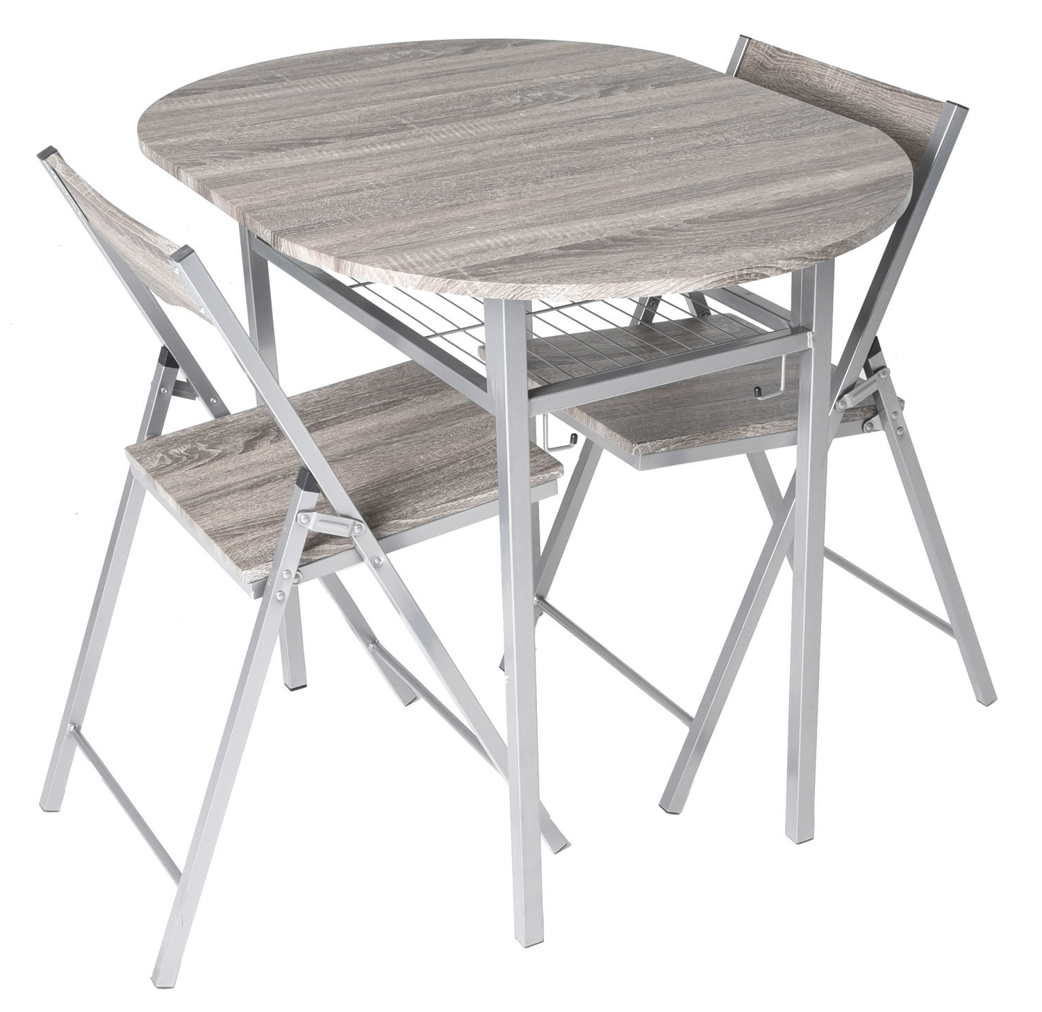 Ebern Designs Horner Wood 3 Piece Drop Leaf Breakfast Nook Dining Throughout Fashionable Honoria 3 Piece Dining Sets (View 2 of 25)