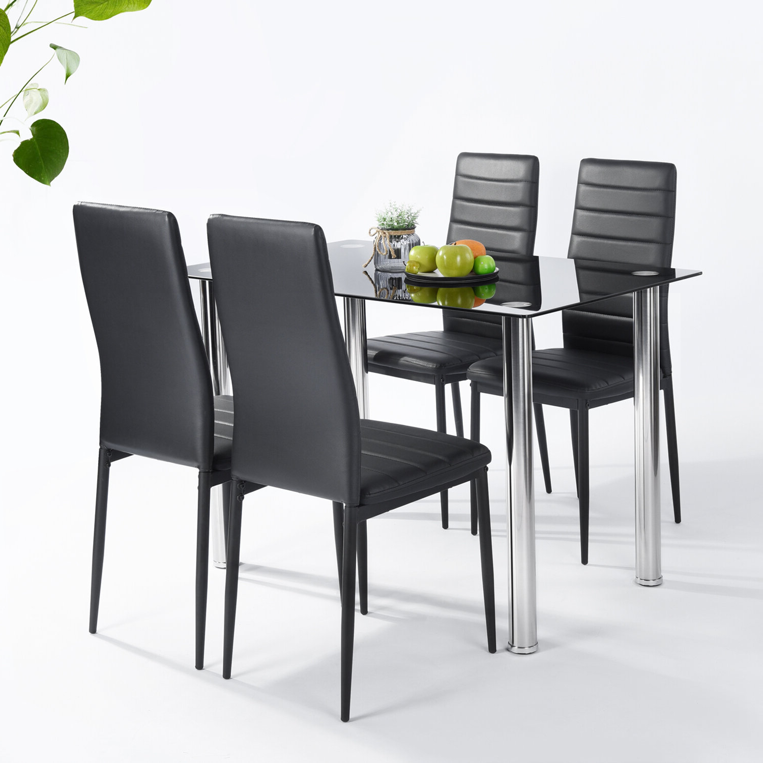 Ebern Designs Lamotte 5 Piece Dining Set (View 5 of 25)