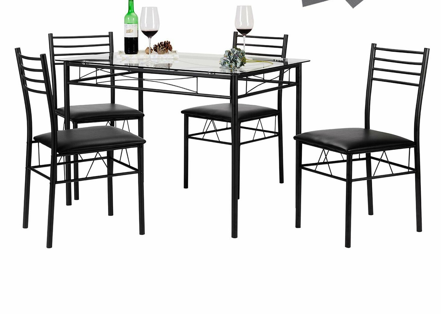 Ebern Designs Lightle 5 Piece Breakfast Nook Dining Set & Reviews For Favorite Liles 5 Piece Breakfast Nook Dining Sets (View 7 of 25)