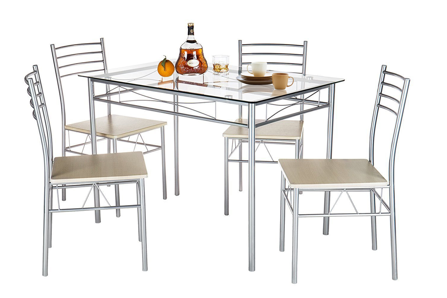 Ebern Designs Liles 5 Piece Breakfast Nook Dining Set & Reviews Within Favorite Tavarez 5 Piece Dining Sets (View 23 of 25)