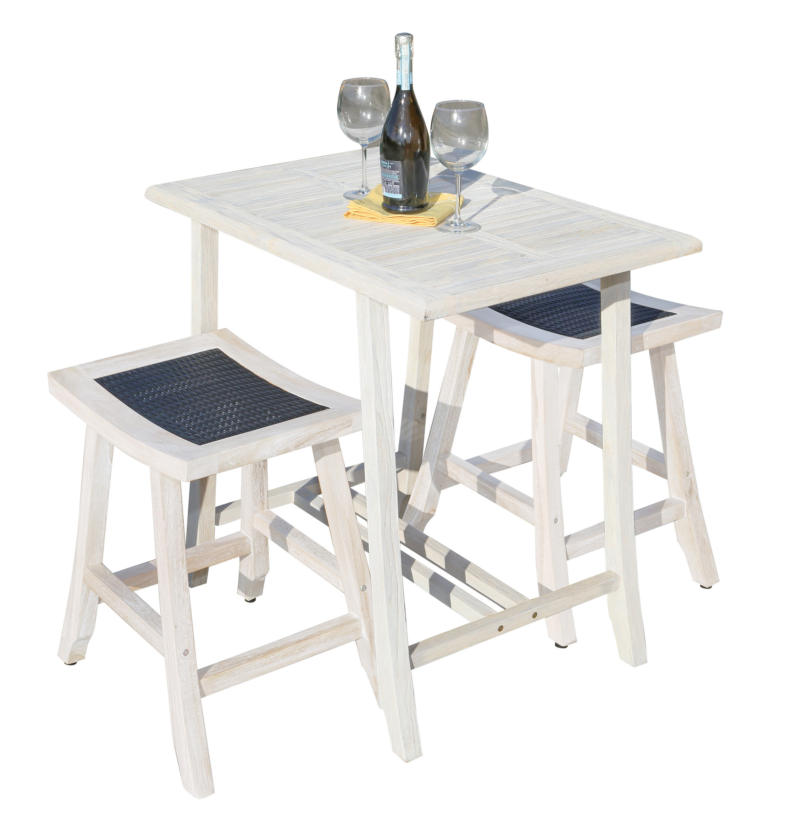 Ecodecors Satori 3 Piece Pub Table Set