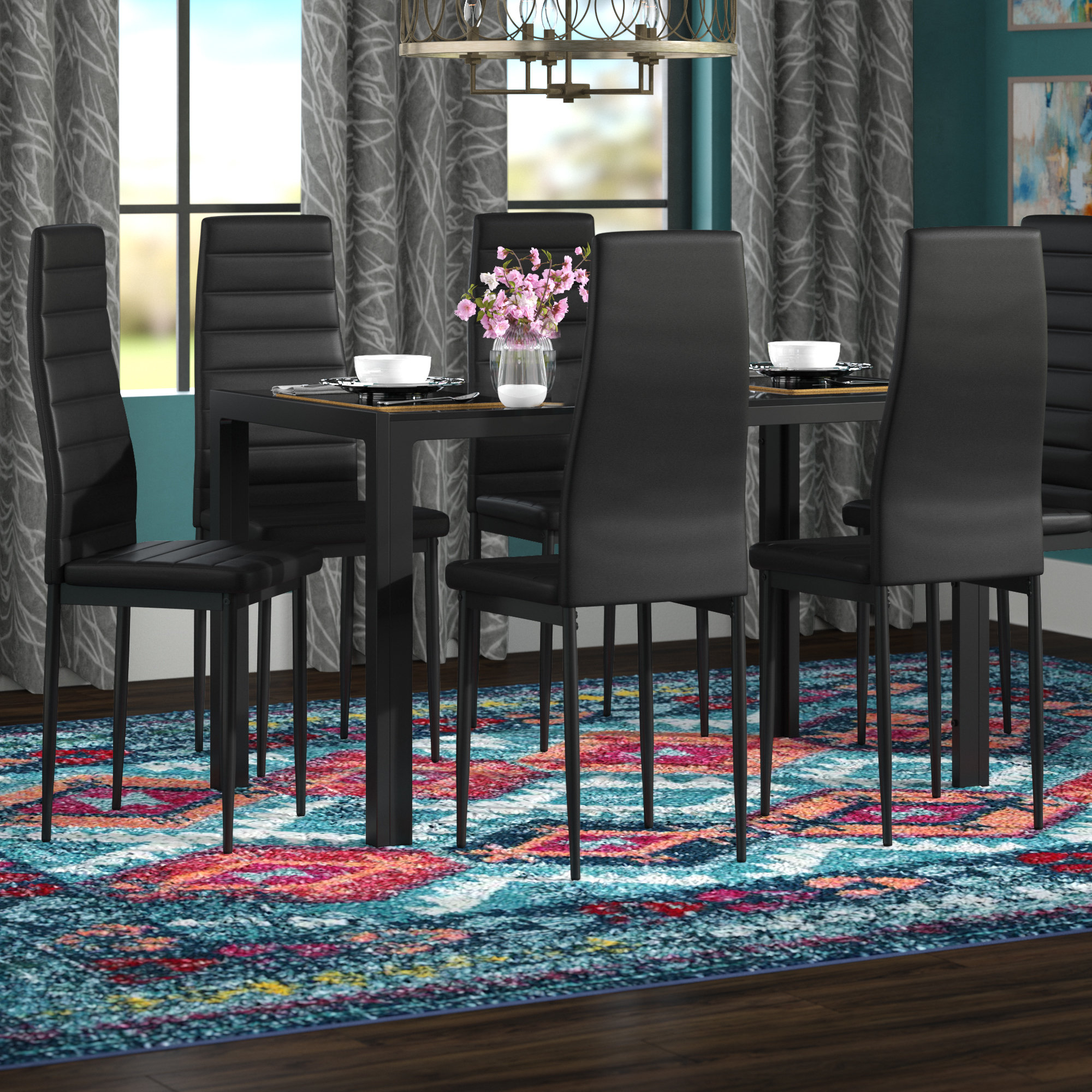 Emmeline 5 Piece Breakfast Nook Dining Sets pertaining to Latest Wade Logan Raoul 7 Piece Dining Set & Reviews
