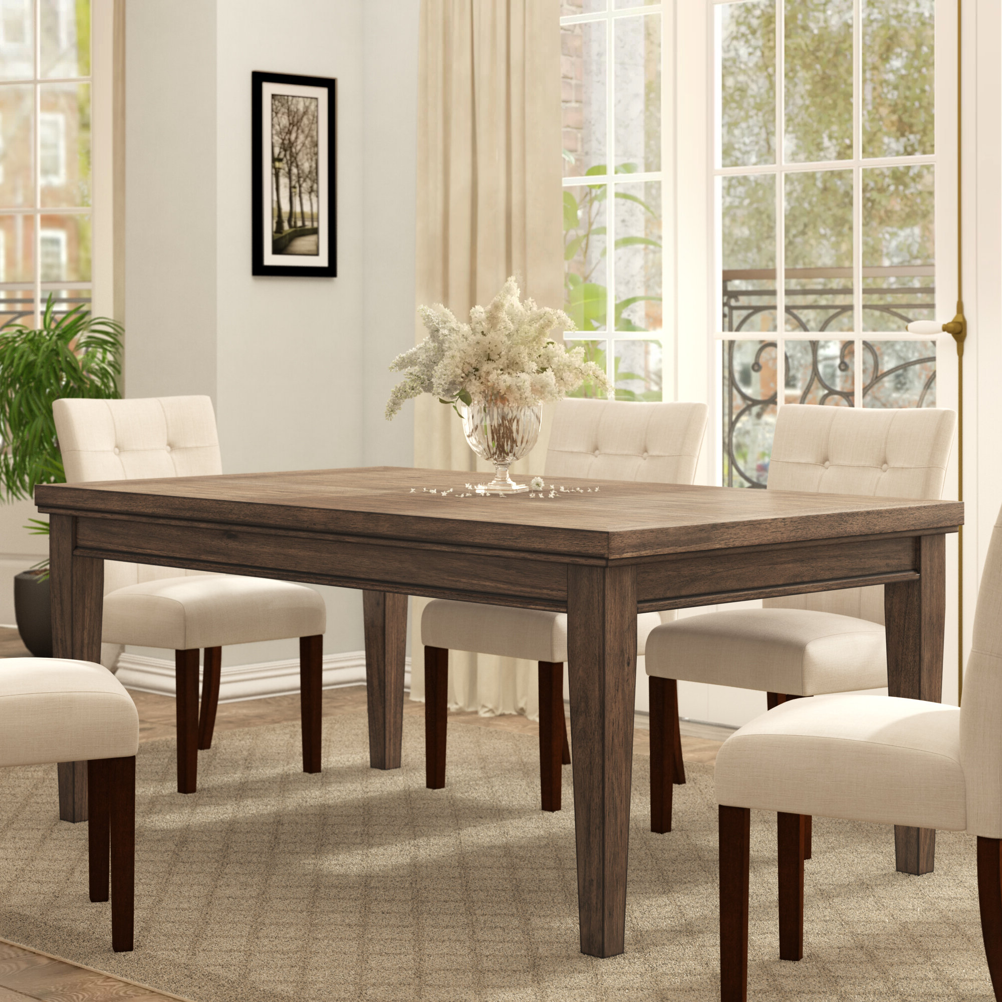 Ephraim 5 Piece Dining Sets Inside Newest Three Posts Penwortham Dining Table (View 5 of 25)