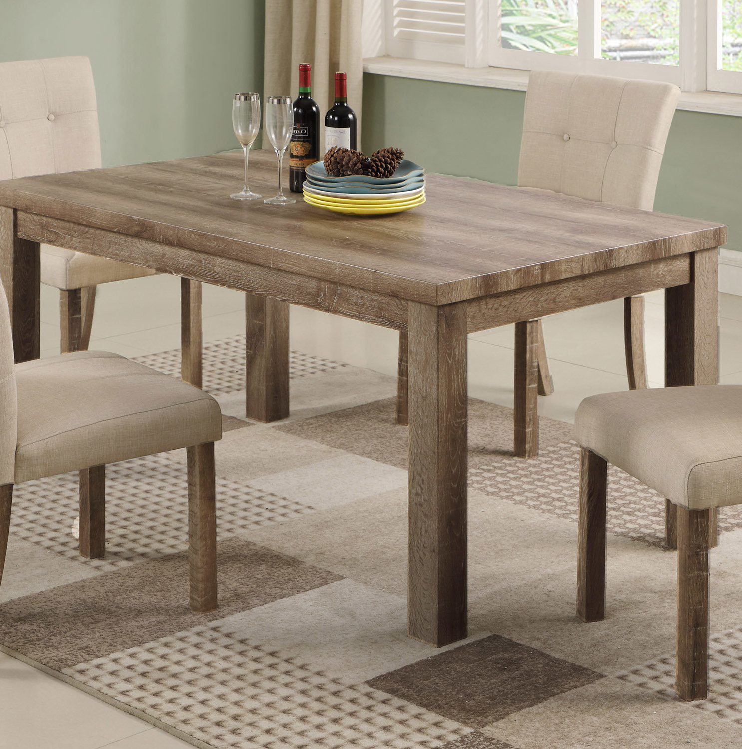 Ephraim 5 Piece Dining Sets Within Popular Millwood Pines Ephraim Dining Table (View 8 of 25)