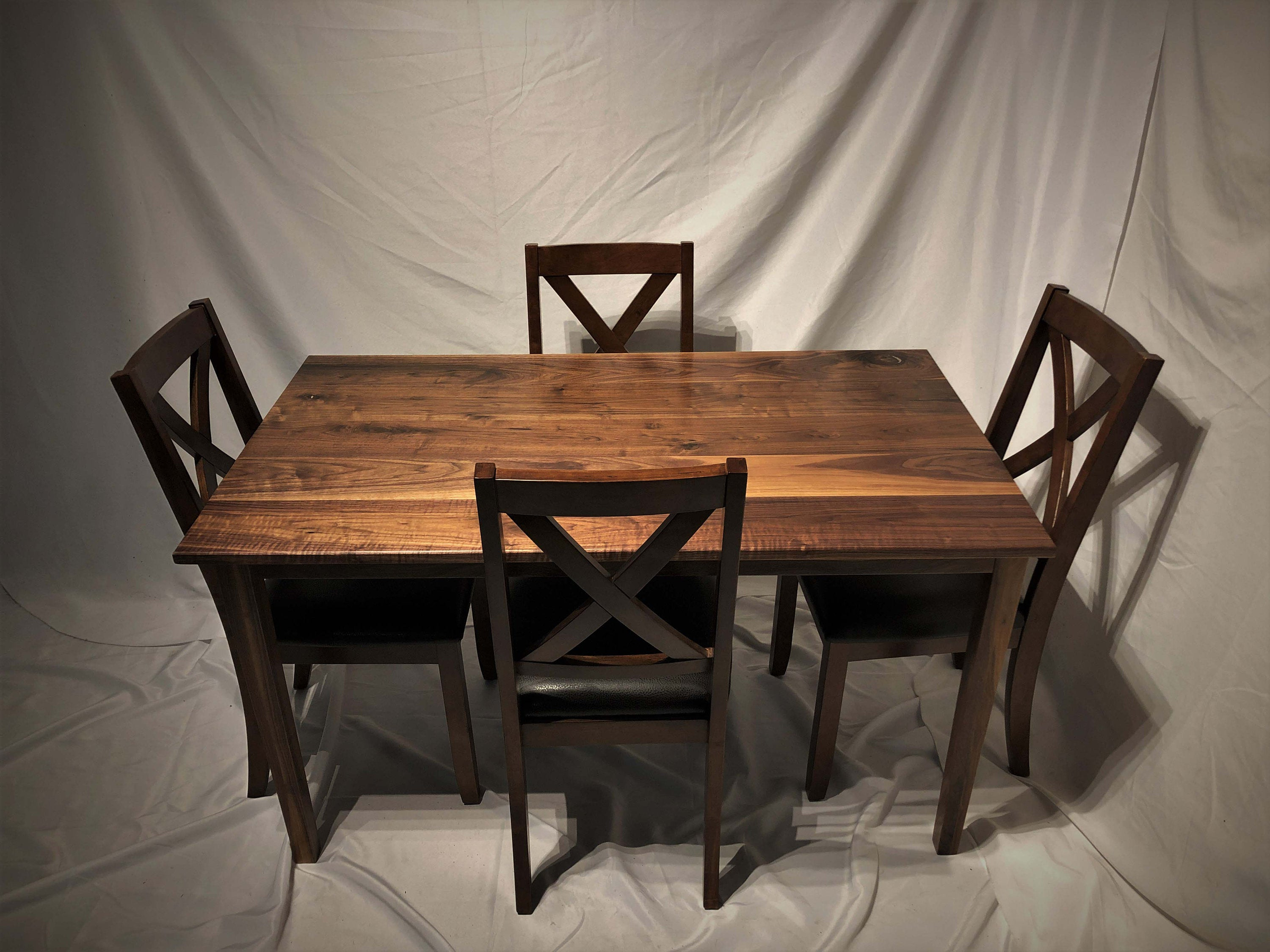 Etsy throughout Sundberg 5 Piece Solid Wood Dining Sets