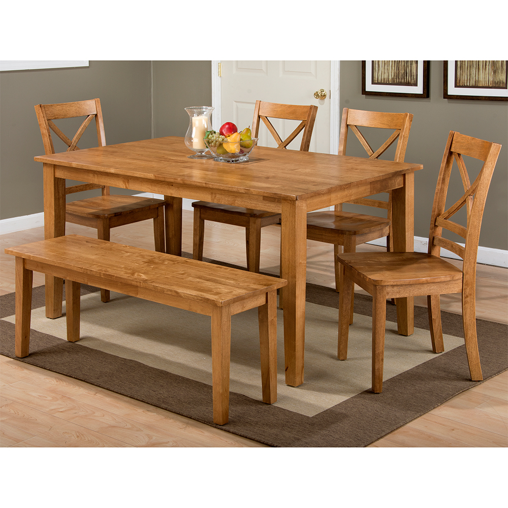 Evellen 5 Piece Solid Wood Dining Sets (Set Of 5) In Widely Used Casual Dining Room Tables & Chair Sets (View 4 of 25)
