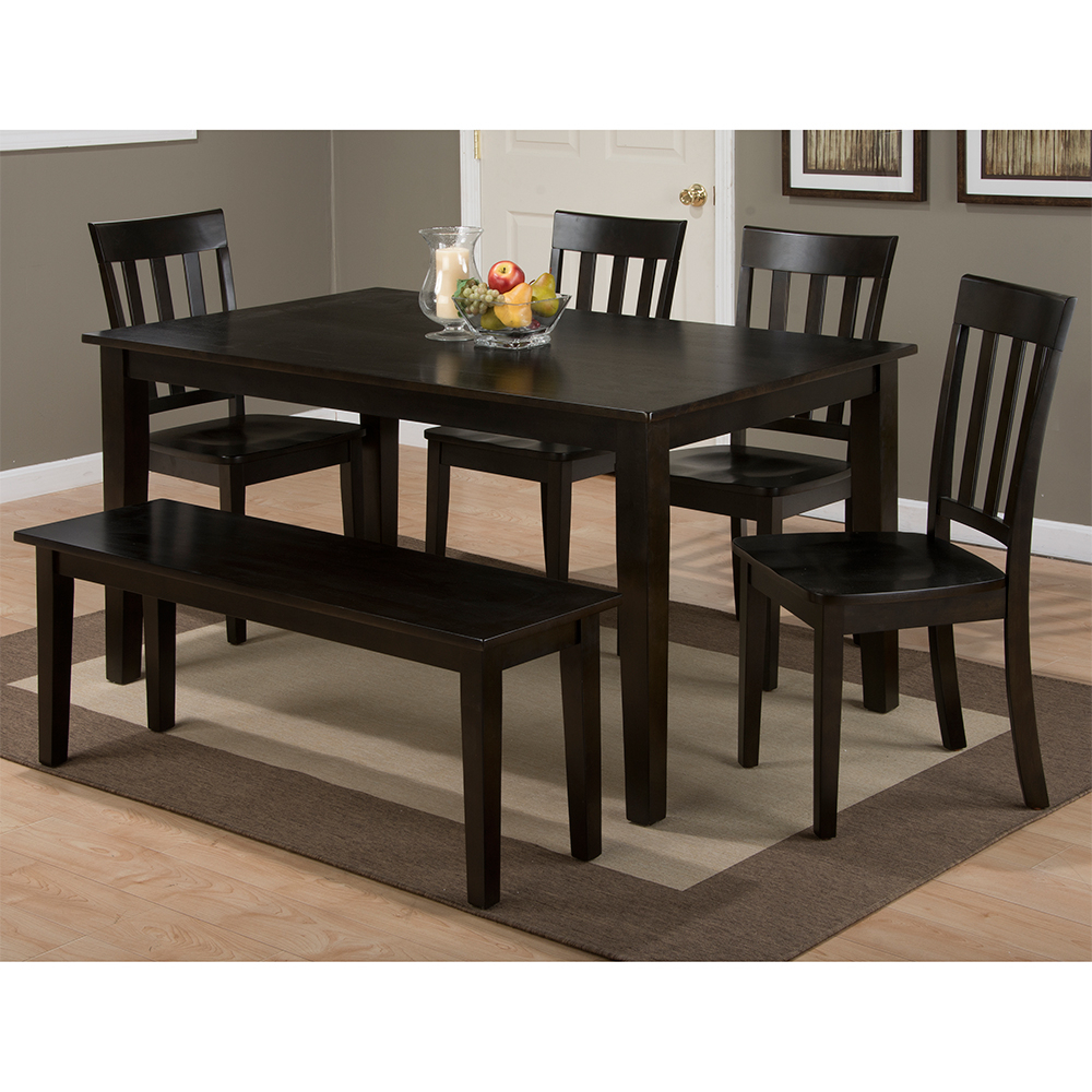 Evellen 5 Piece Solid Wood Dining Sets (Set Of 5) pertaining to Latest Casual Dining Room Tables & Chair Sets