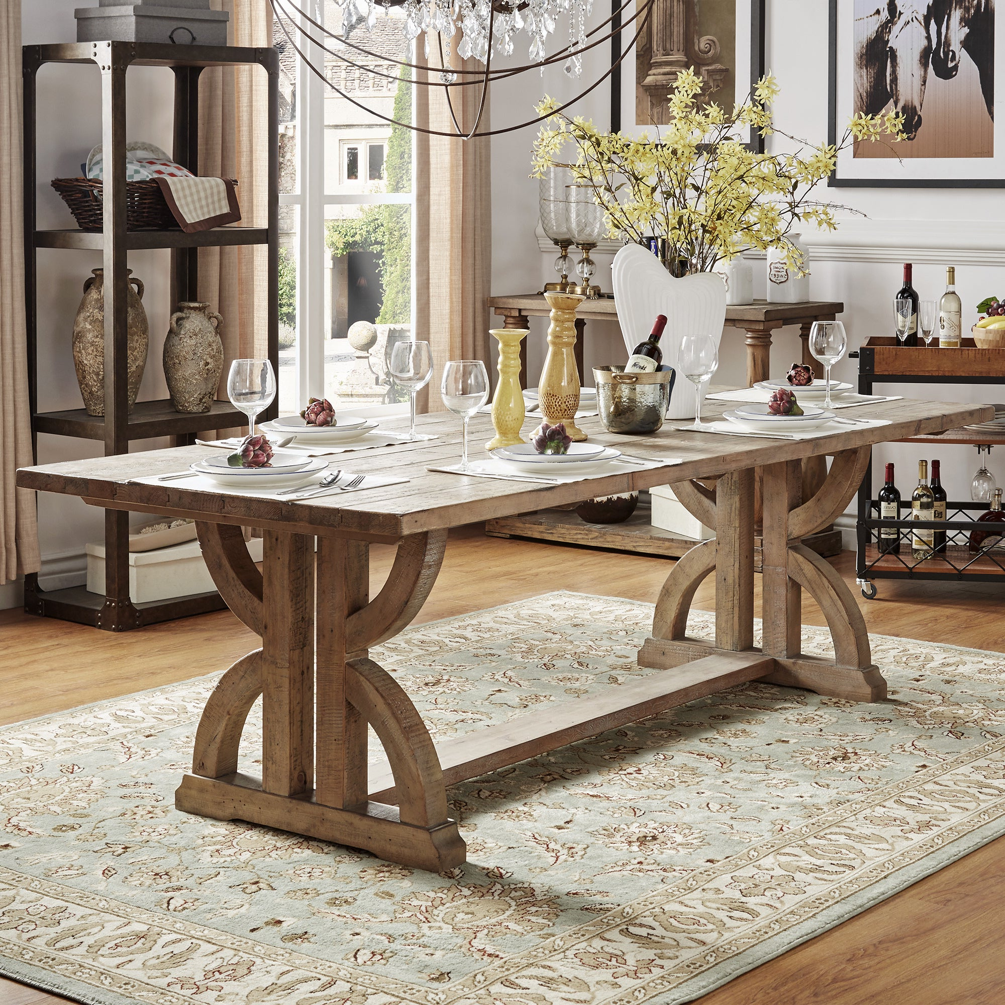 Falmer 3 Piece Solid Wood Dining Sets In Most Popular Buy Rustic Kitchen & Dining Room Tables Online At Overstock (View 15 of 25)