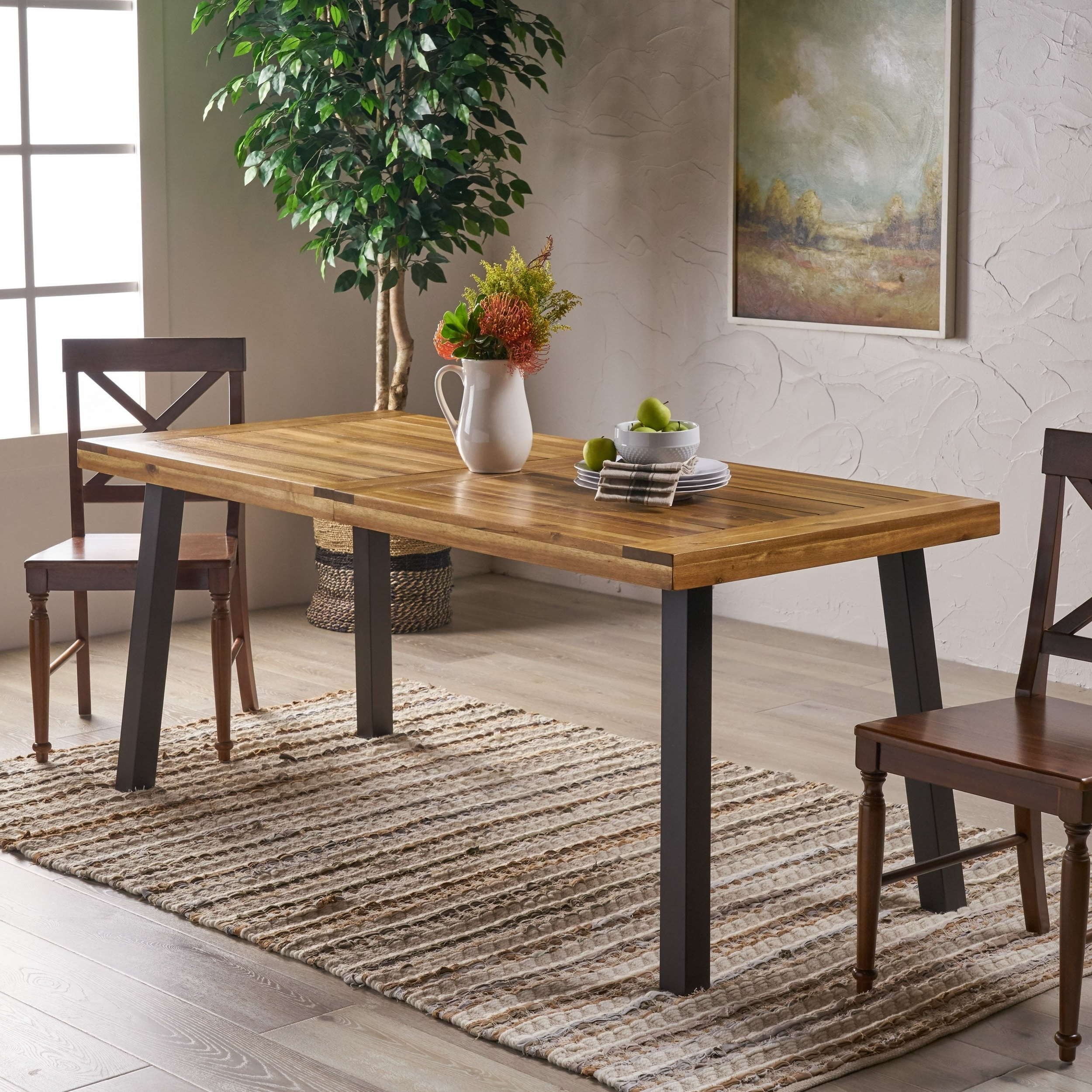 Falmer 3 Piece Solid Wood Dining Sets Pertaining To Most Recent Buy Rustic Kitchen & Dining Room Tables Online At Overstock (View 4 of 25)