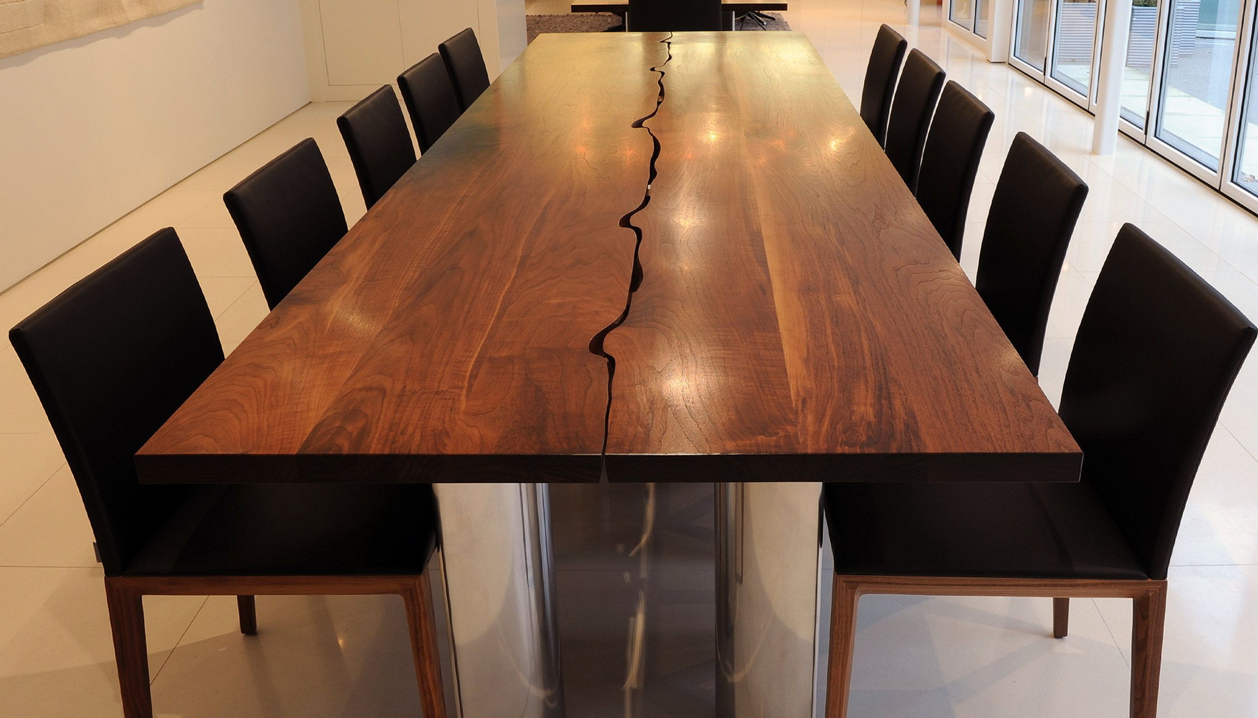 Famous Amir 5 Piece Solid Wood Dining Sets (Set Of 5) Throughout Amir's Bespoke Modern Dining Table Large (View 16 of 25)