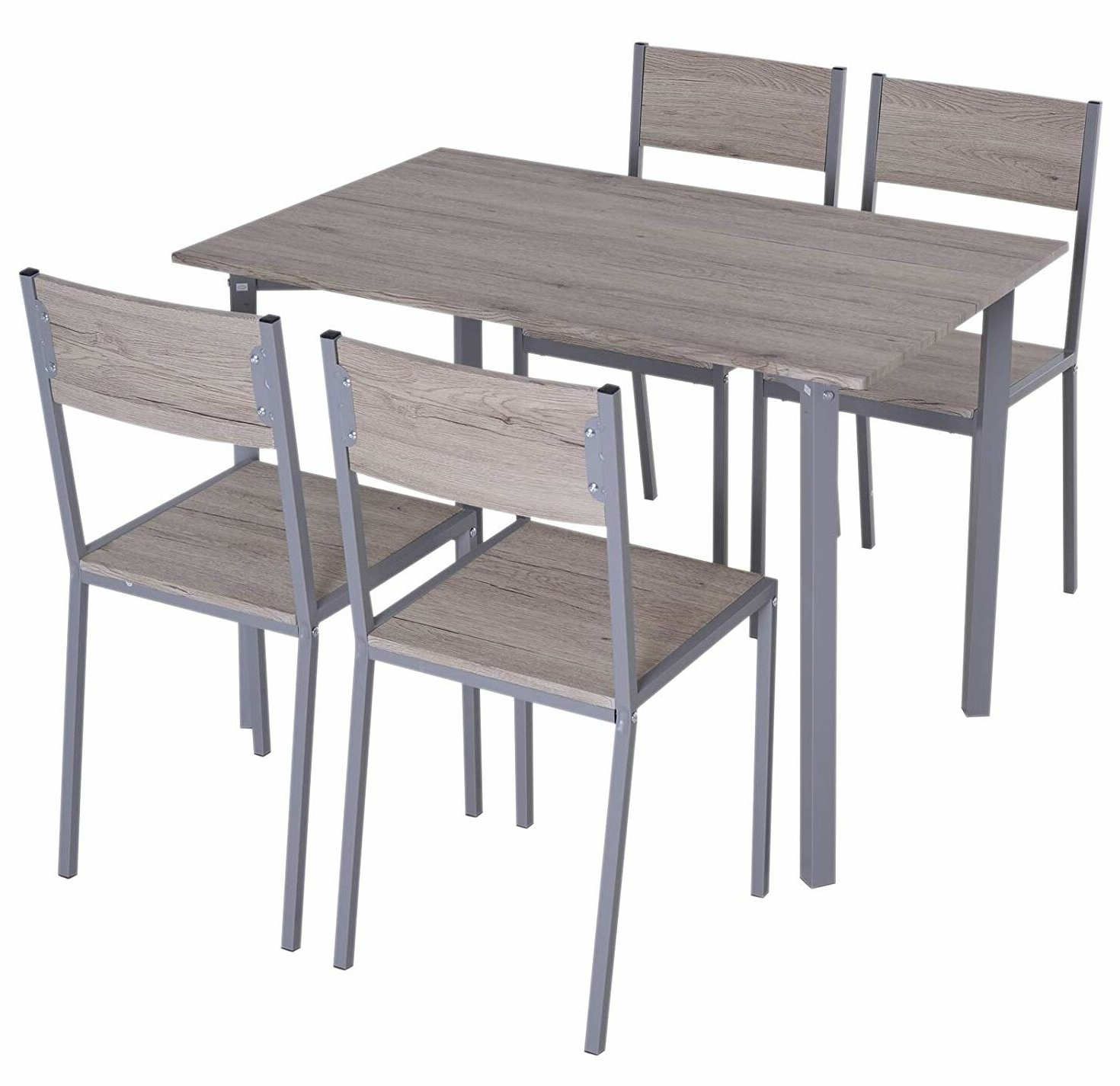 Famous Ebern Designs Legros Modern Compact 5 Piece Dining Set (View 5 of 25)