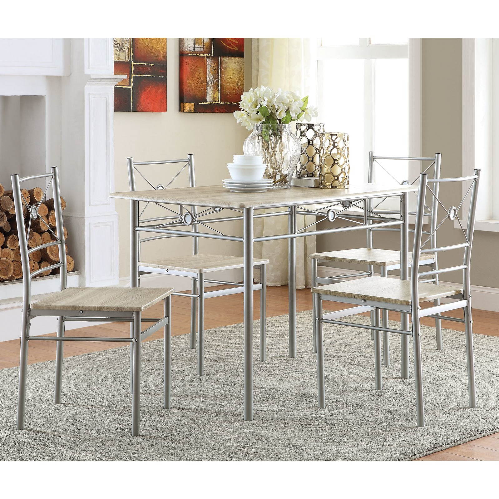 Famous Kieffer 5 Piece Dining Table And Chairs Beautiful Kitchen Room With Kieffer 5 Piece Dining Sets (View 2 of 25)