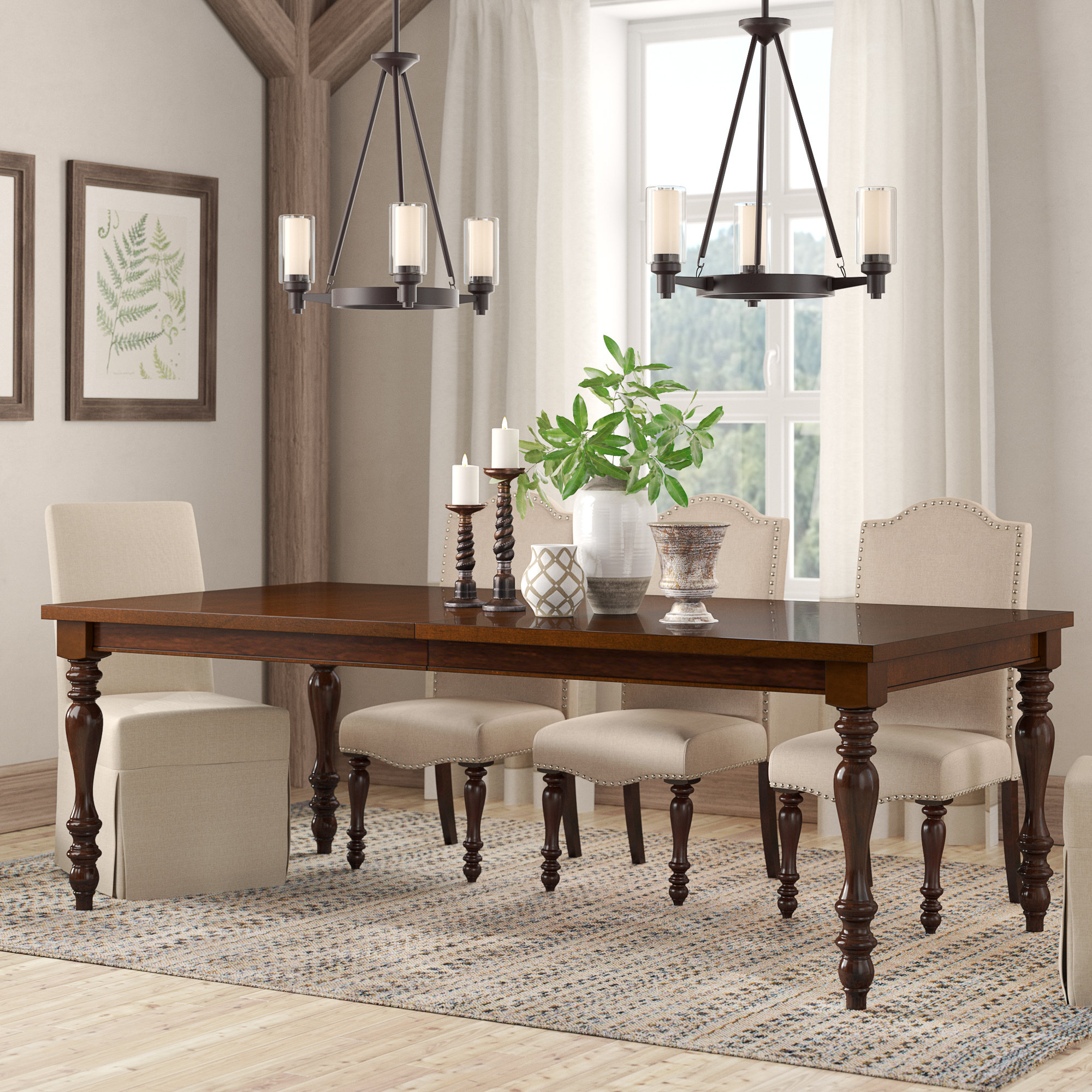 Famous Linette 5 Piece Dining Table Sets With Regard To Birch Lane™ Heritage Calila Extendable Dining Table (View 7 of 25)