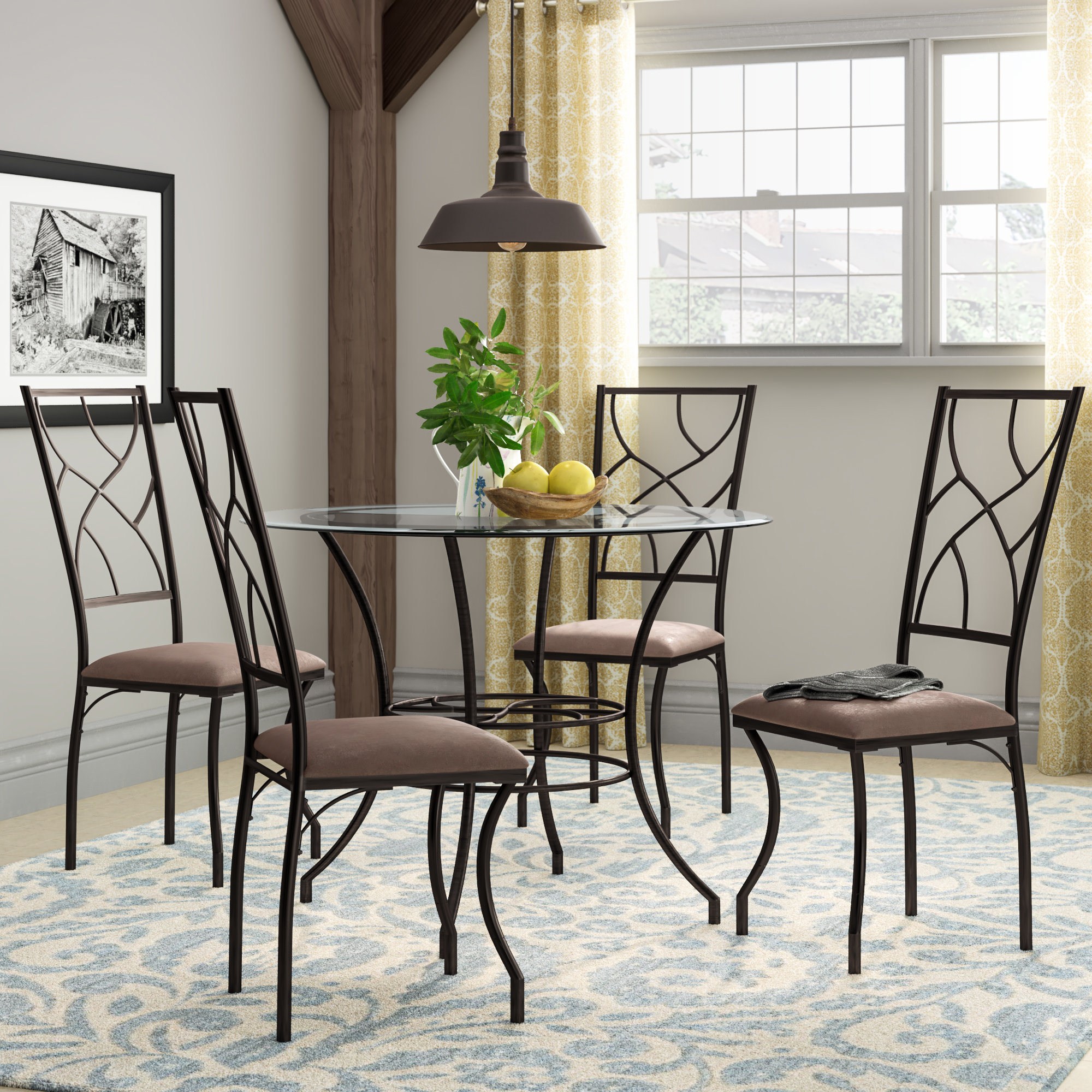 Famous Mulvey 5 Piece Dining Sets Within August Grove Suniga 5 Piece Dining Set & Reviews (View 5 of 25)