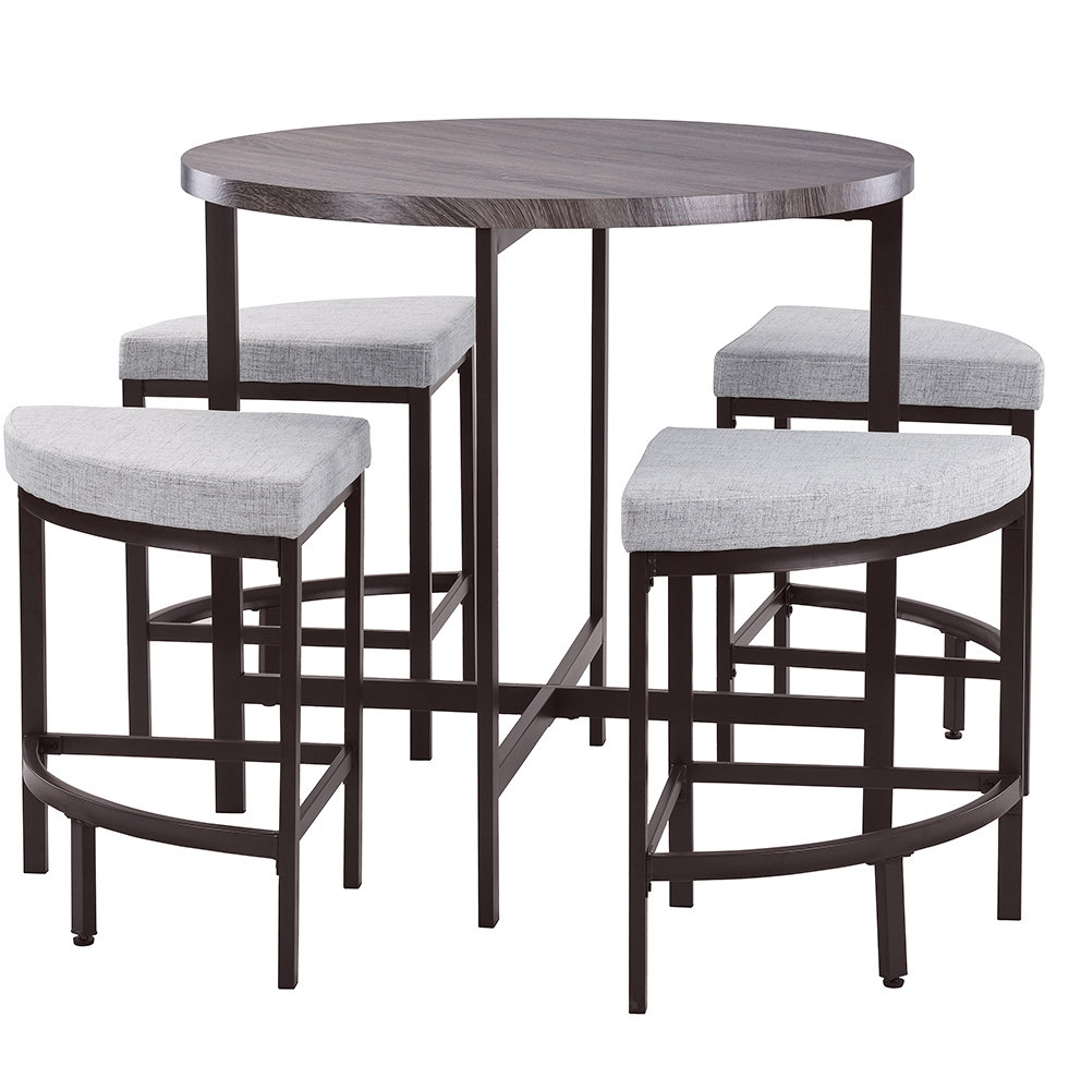 Famous Red Barrel Studio Trever Kitchen 5 Piece Dining Set & Reviews (View 9 of 25)