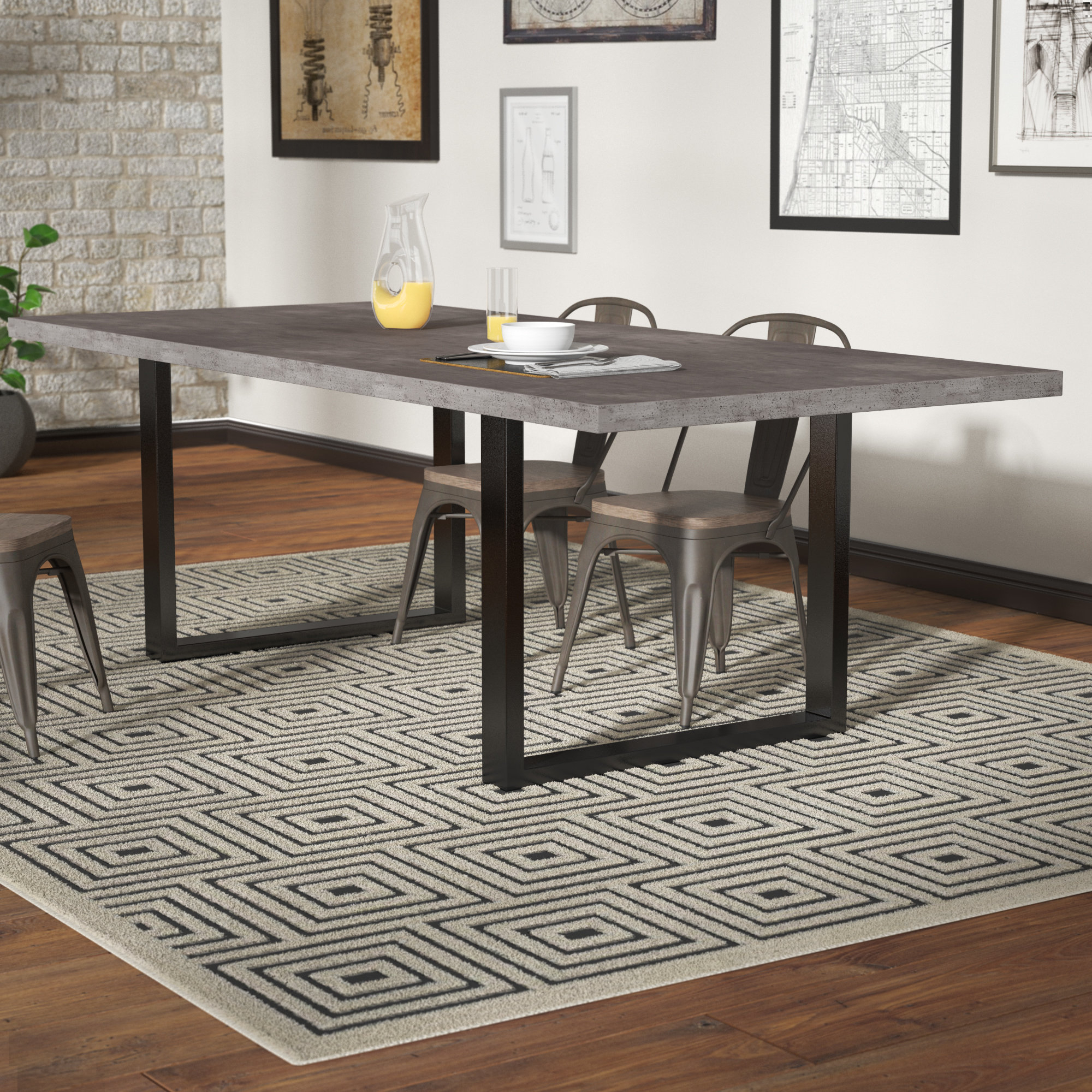 Famous Rossi 5 Piece Dining Sets In Trent Austin Design Carnarvon Concrete Dining Table & Reviews (View 6 of 25)