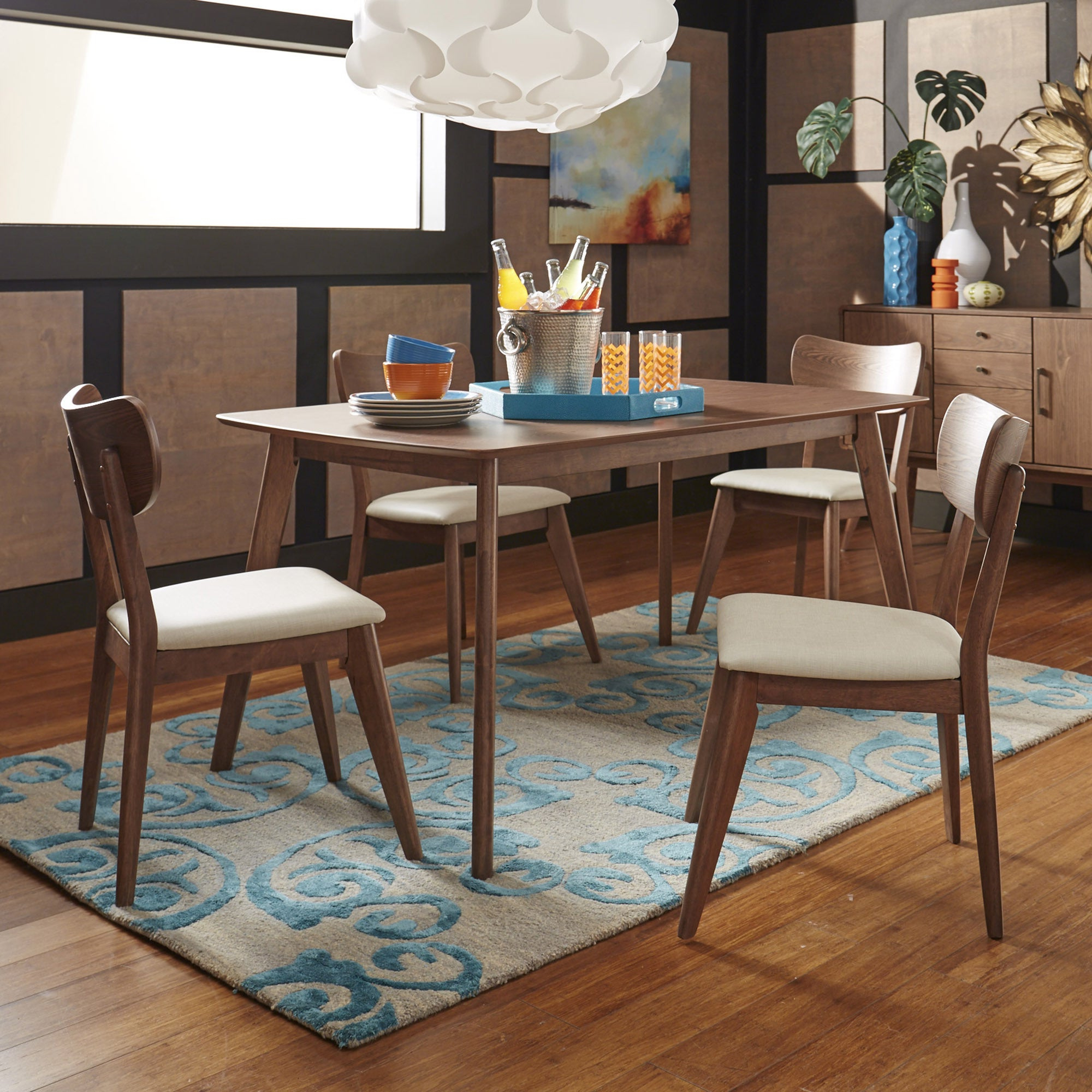 Famous Shop Penelope Danish Modern Walnut Dining Setinspire Q Modern Intended For Penelope 3 Piece Counter Height Wood Dining Sets (View 4 of 25)