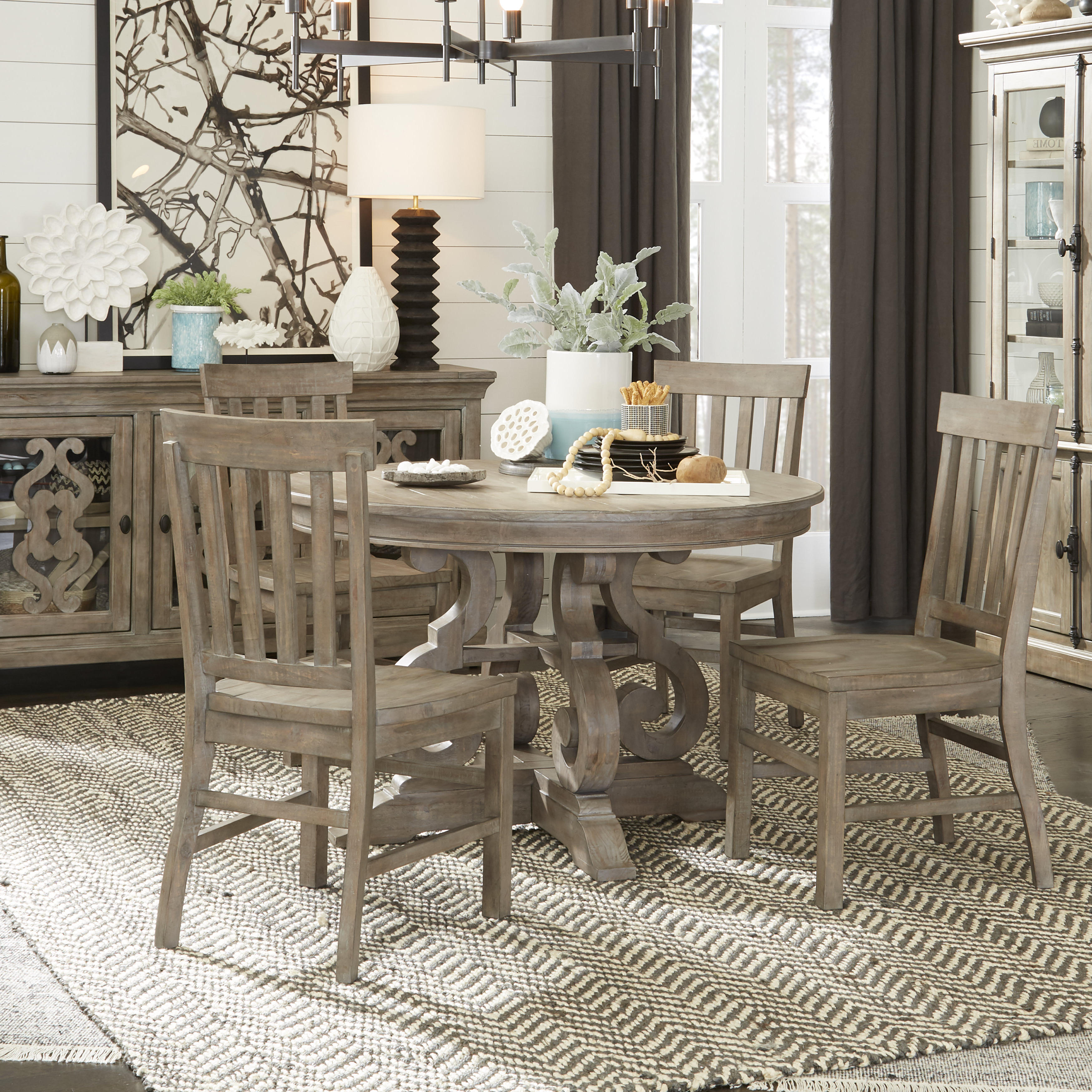 Famous Sundberg 5 Piece Solid Wood Dining Sets With Regard To Greyleigh Ellenton 5 Piece Solid Wood Dining Set & Reviews (View 9 of 25)