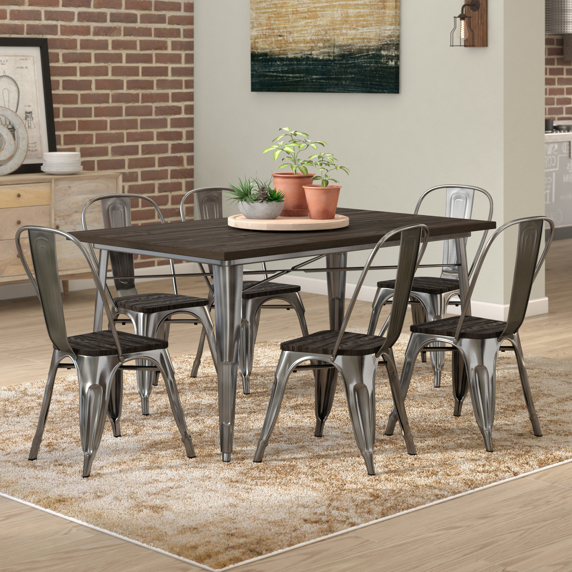 Famous Tarleton 5 Piece Dining Sets Regarding Trent Austin Design Fortuna 7 Piece Dining Set & Reviews (View 10 of 25)