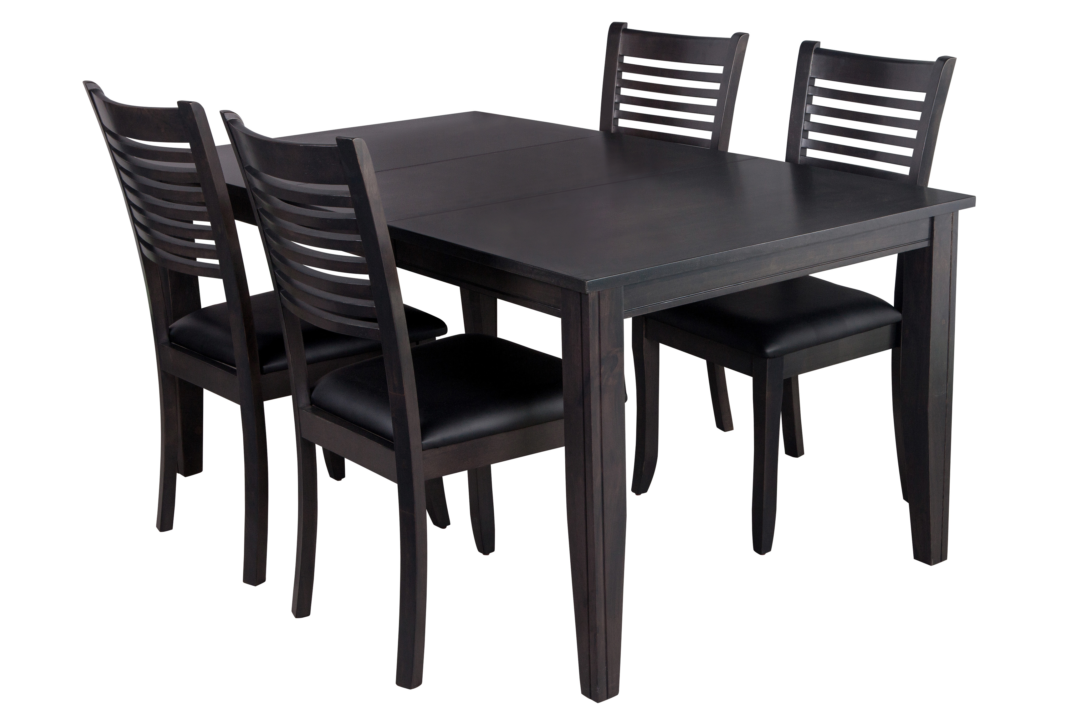 Famous Ttp Furnish Pertaining To Adan 5 Piece Solid Wood Dining Sets (Set Of 5) (View 7 of 25)