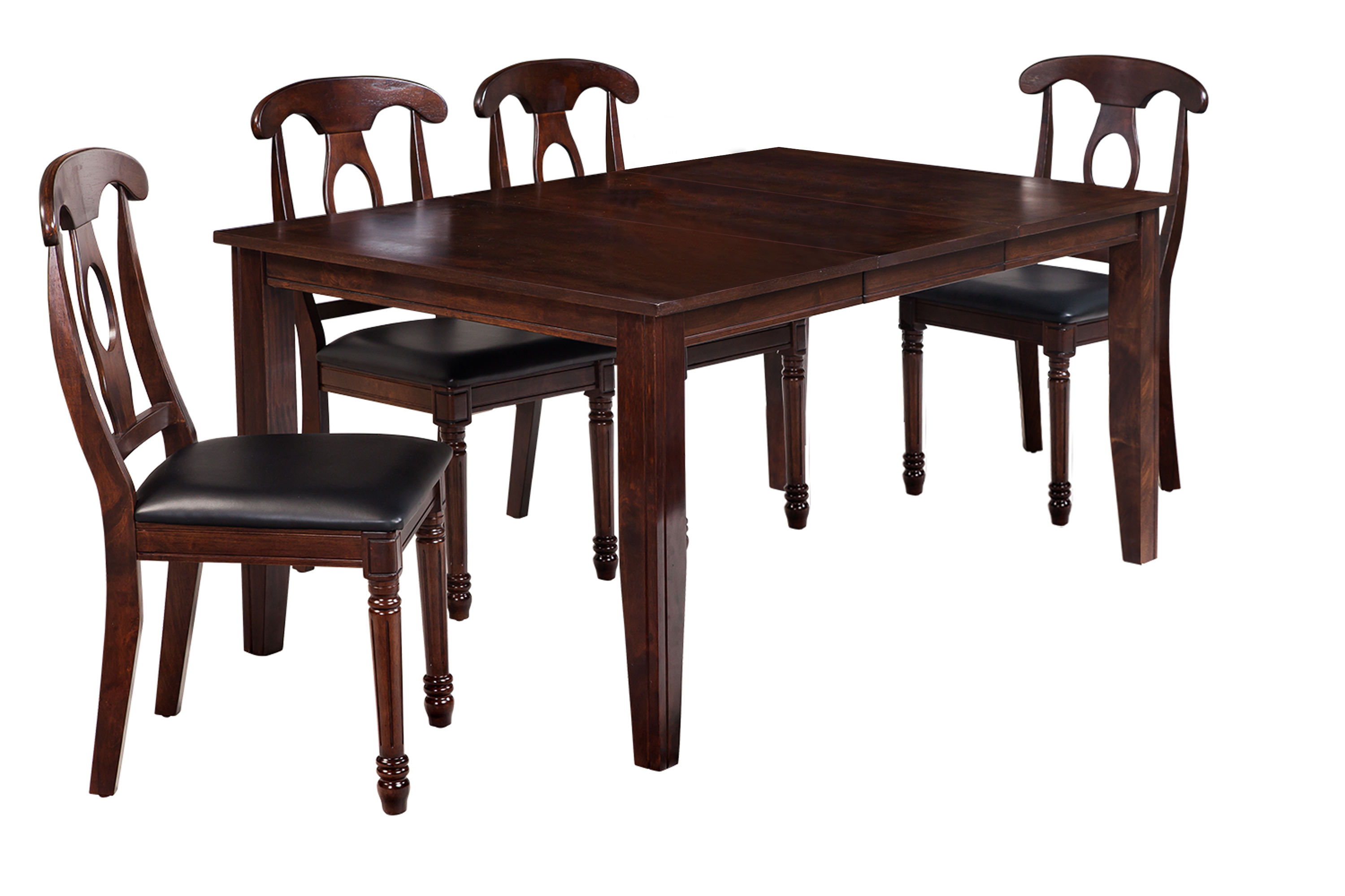 Fashionable Adan 5 Piece Solid Wood Dining Sets (Set Of 5) Throughout Ttp Furnish (View 17 of 25)