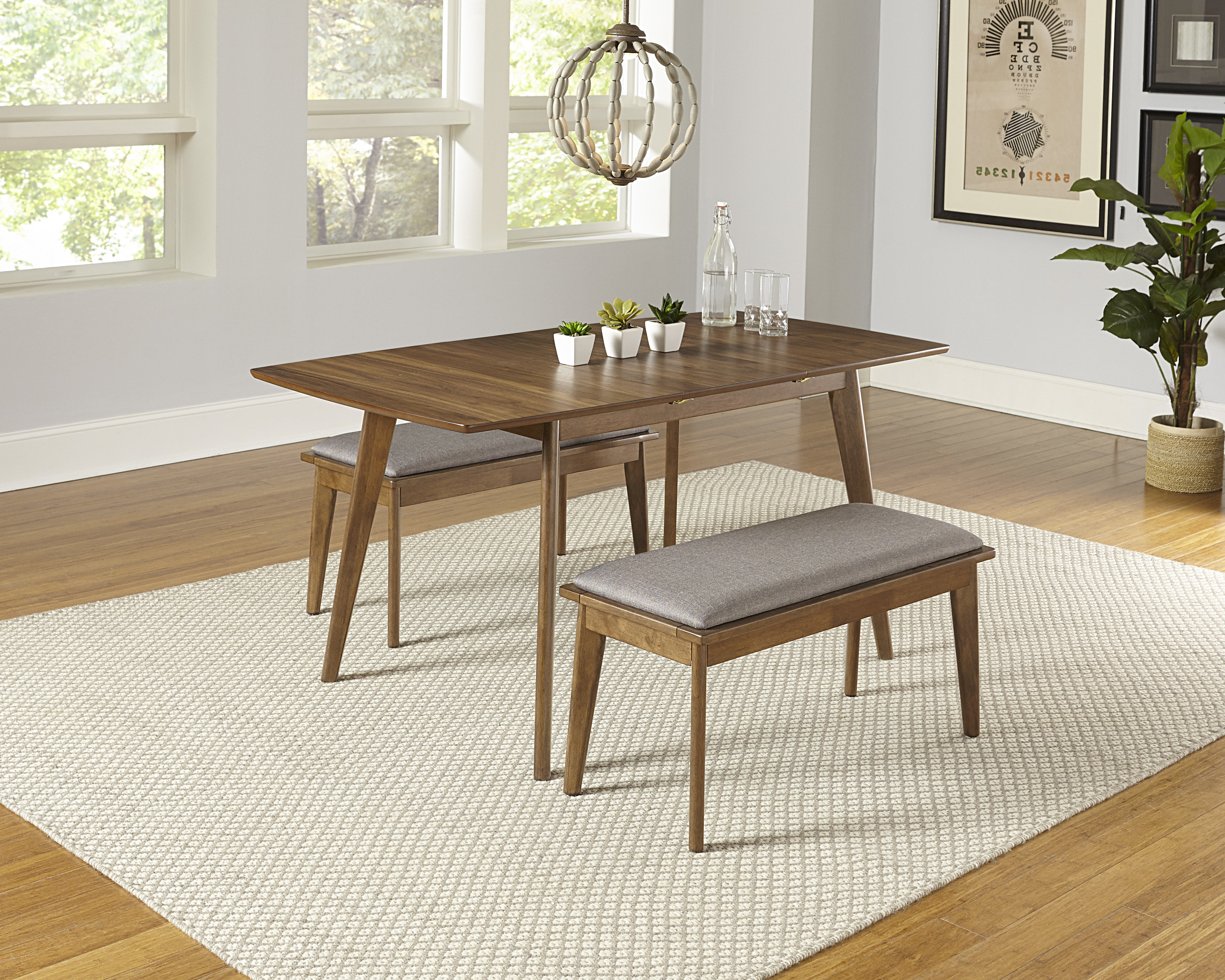 Fashionable Bungalow Rose Rockaway 3 Piece Extendable Solid Wood Dining Set Pertaining To Kerley 4 Piece Dining Sets (View 18 of 25)