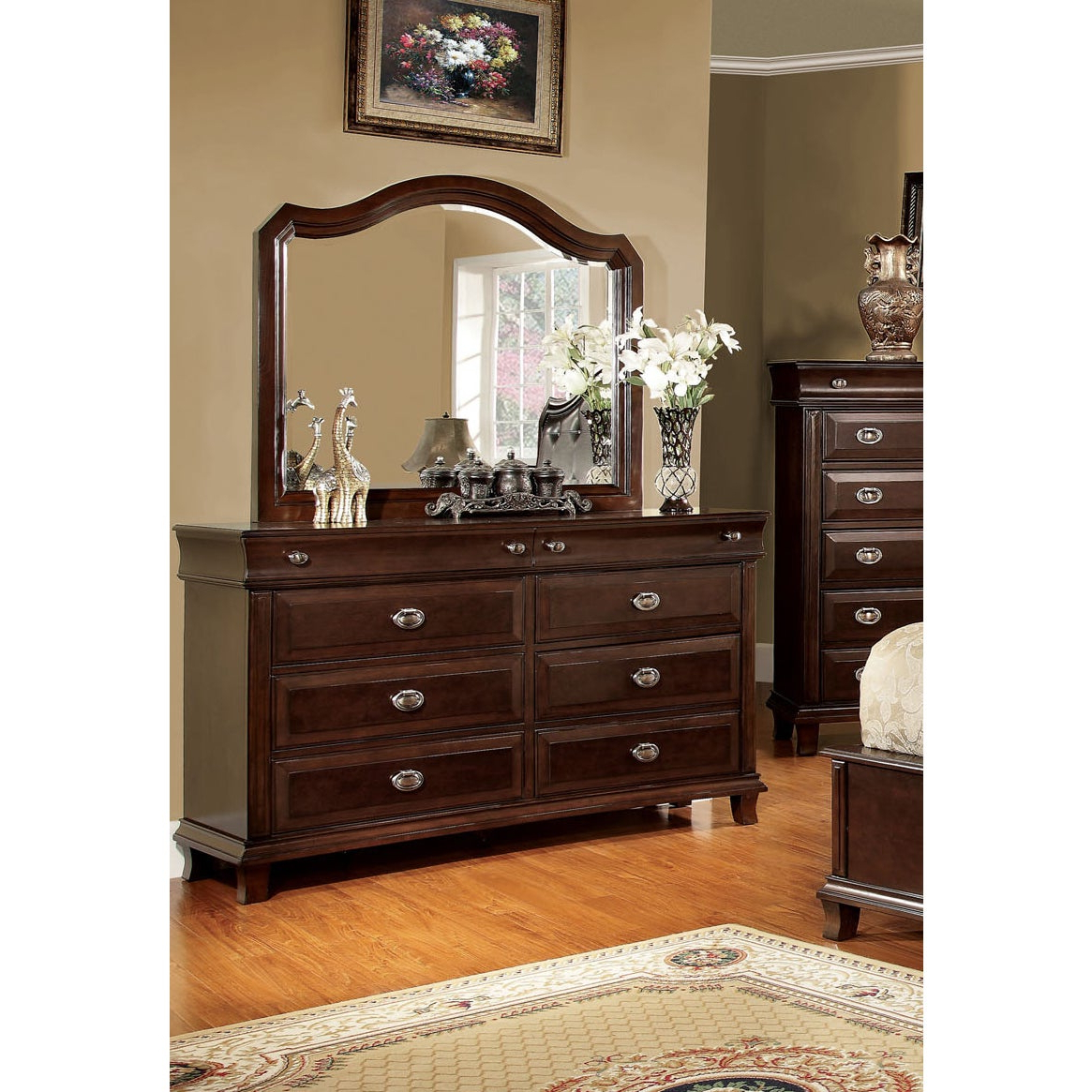Fashionable Crownover 3 Piece Bar Table Sets Inside Shop Crown Transitional Brown Cherry 4 Piece Platform Bedroom Set (View 14 of 25)