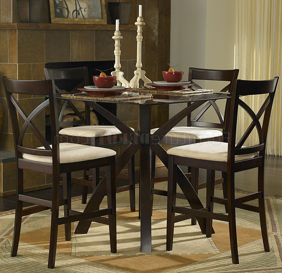 Fashionable Dining Room: Cozy Counter Height Dinette Sets For Your Dining In Rossi 5 Piece Dining Sets (View 8 of 25)