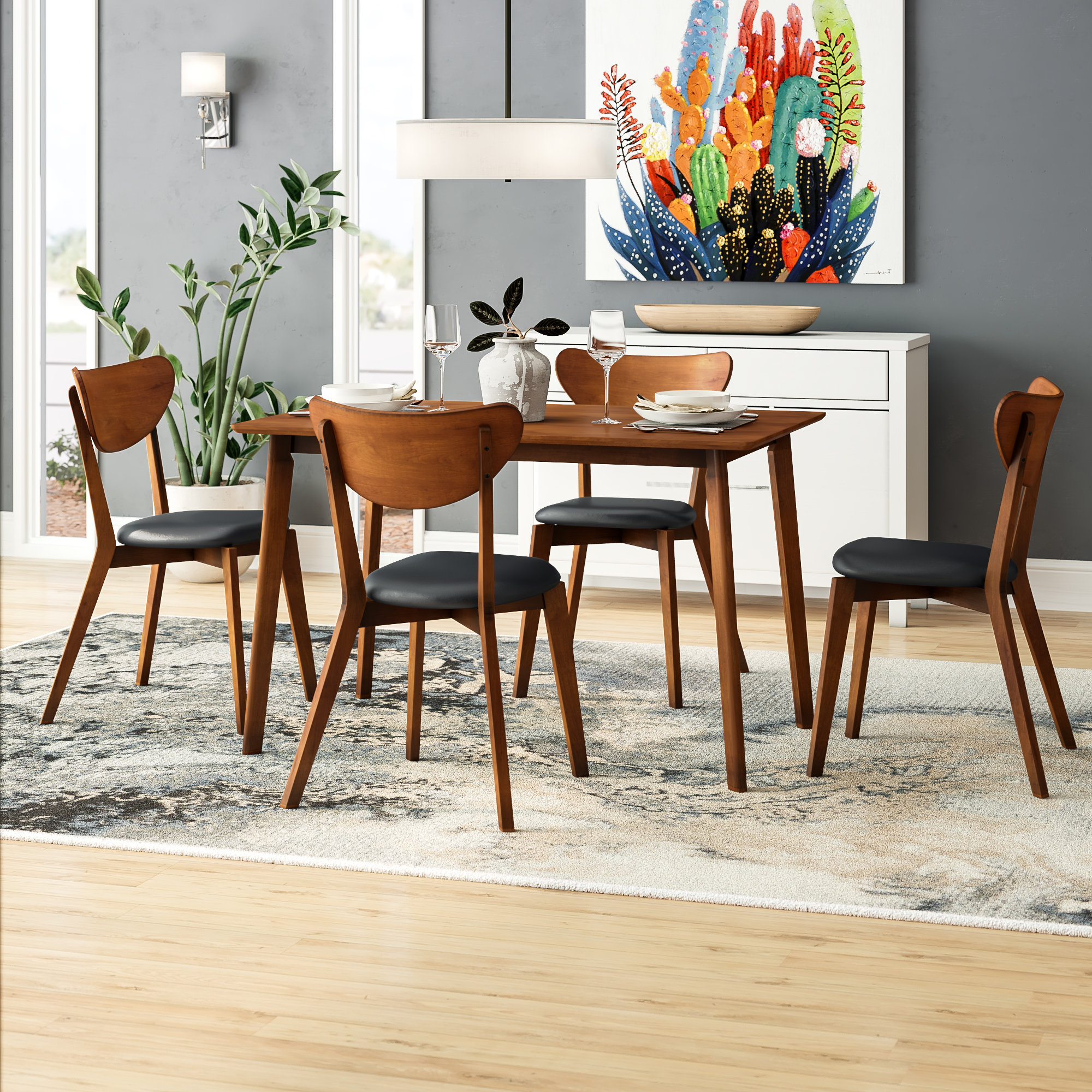 Fashionable George Oliver Urijah 5 Piece Dining Set (View 19 of 25)