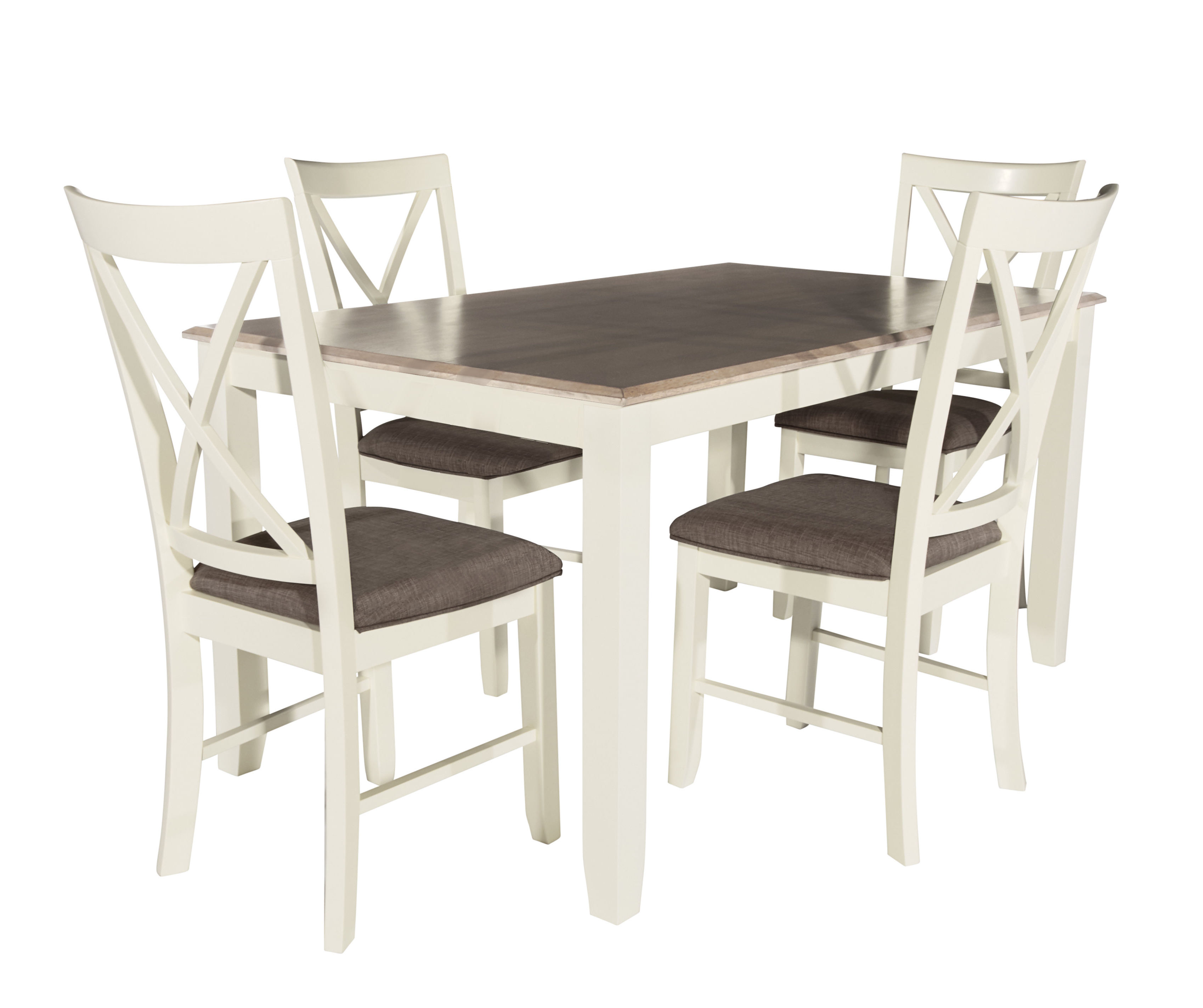 Fashionable Laurel Foundry Modern Farmhouse Amaury 5 Piece Dining Set & Reviews Throughout 5 Piece Dining Sets (View 14 of 25)
