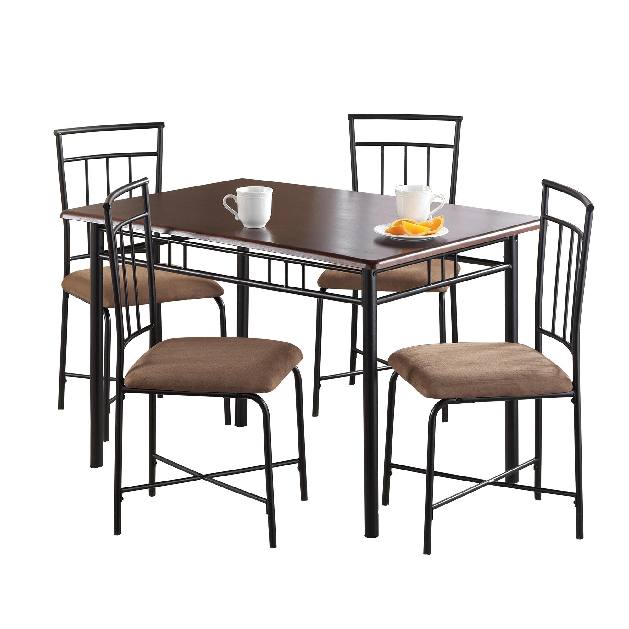 Fashionable Mainstays 5 Piece Dining Set, Multiple Colors – Walmart Pertaining To West Hill Family Table 3 Piece Dining Sets (View 8 of 25)
