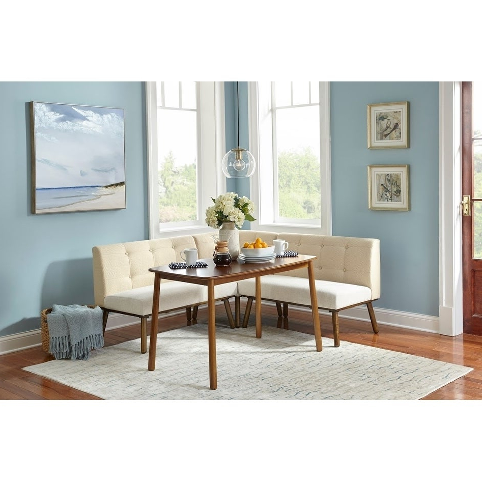 Fashionable Maloney 3 Piece Breakfast Nook Dining Sets Intended For Shop Simple Living 4 Piece Playmate Nook Dining Set – On Sale – Free (View 6 of 25)