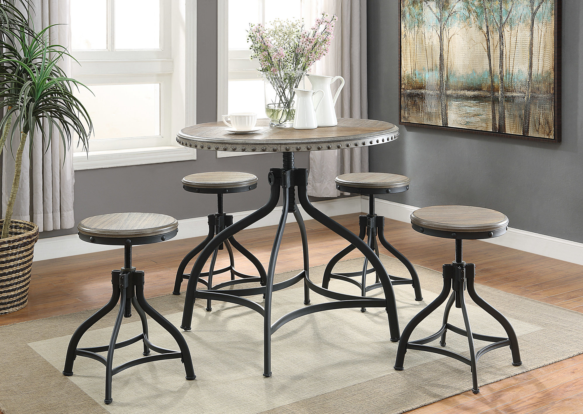 Fashionable Mulvey 5 Piece Dining Sets In Williston Forge Millner 5 Piece Dining Set  (View 6 of 25)